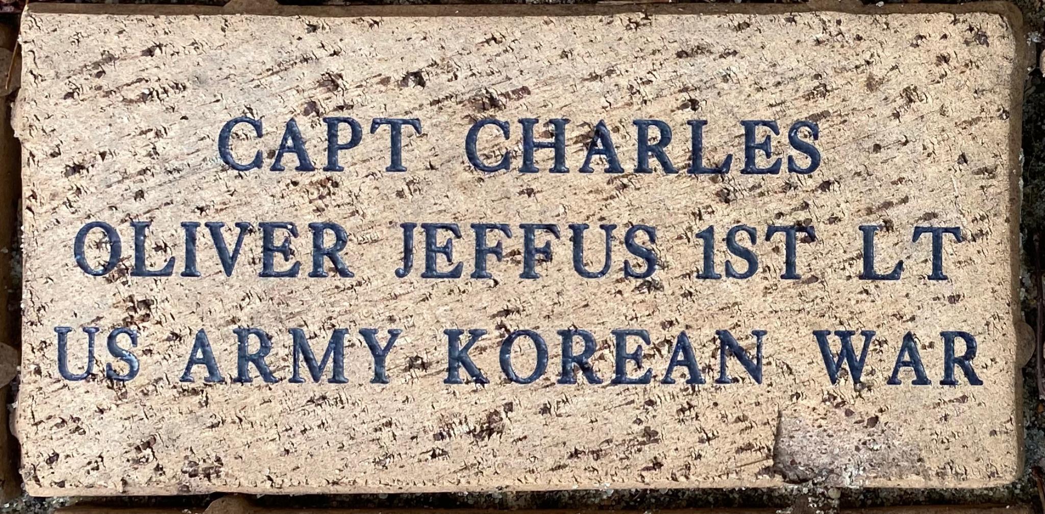 CAPT. CHARLES OLIVER JEFFUS 1ST LT US ARMY KOREAN WAR