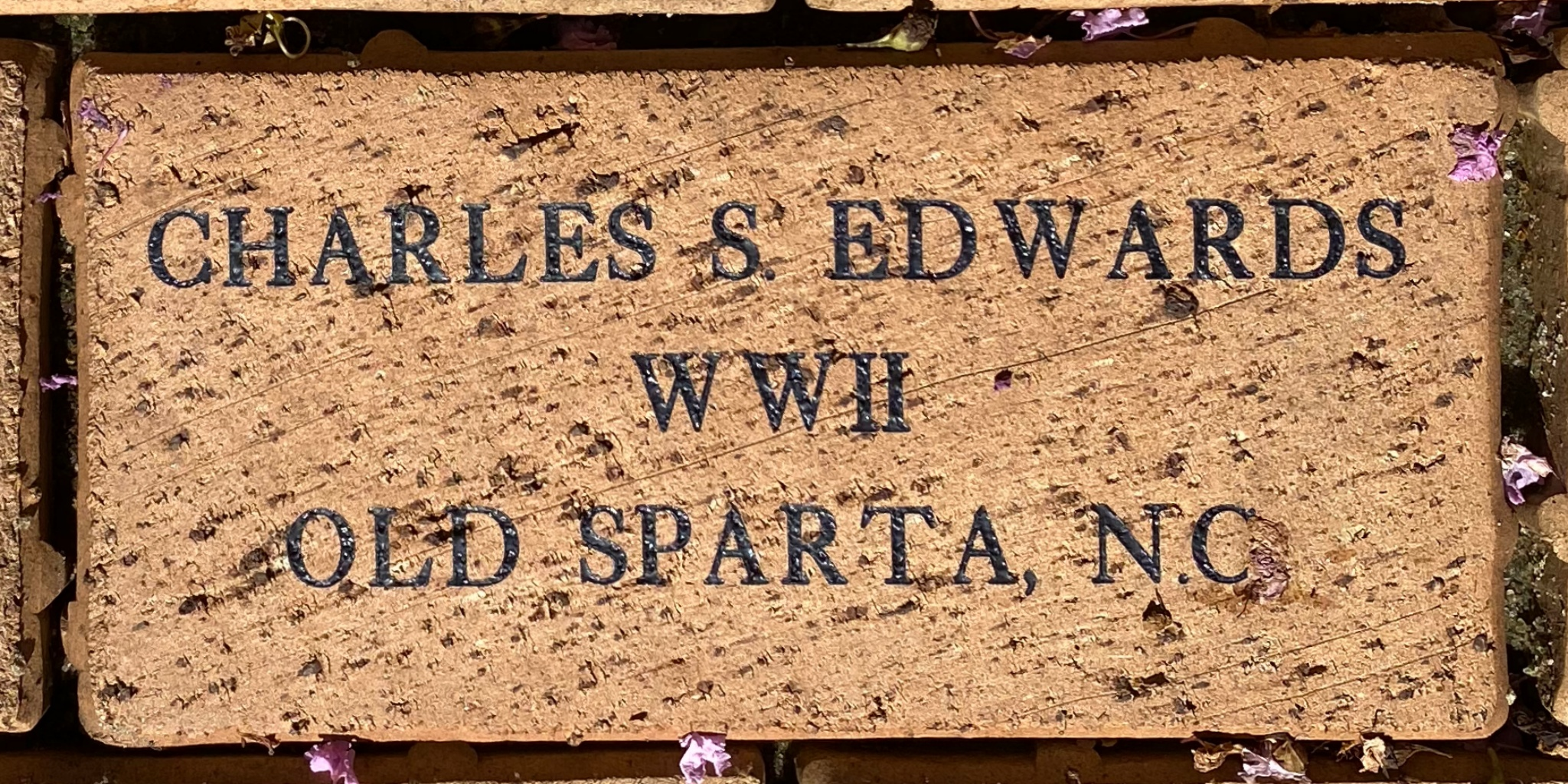 CHARLES S EDWARDS WWII OLD SPARTA, N.C.