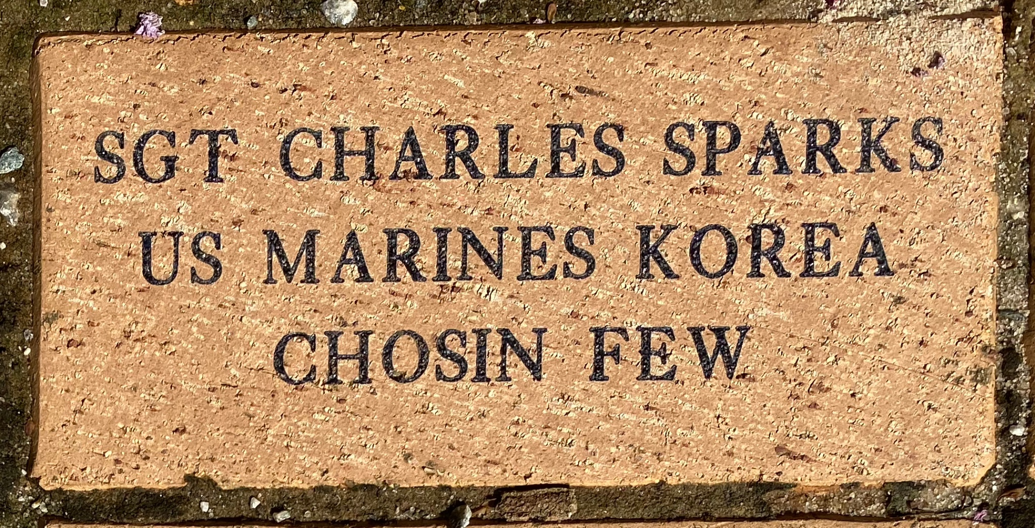 SGT CHARLES SPARKS US MARINES KOREA CHOSIN FEW