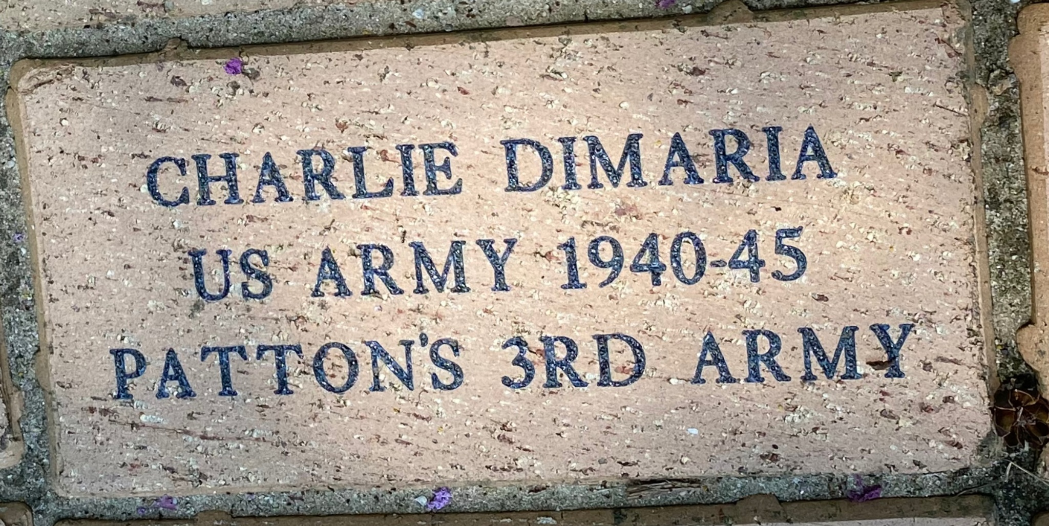 CHARLIE DIMARIA US ARMY 1940-45 PATTON'S 3RD ARMY