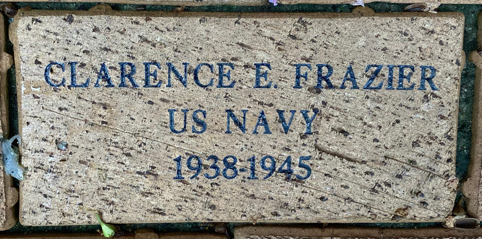 CLARENCE E FRAZIER US NAVY 1938-1945
