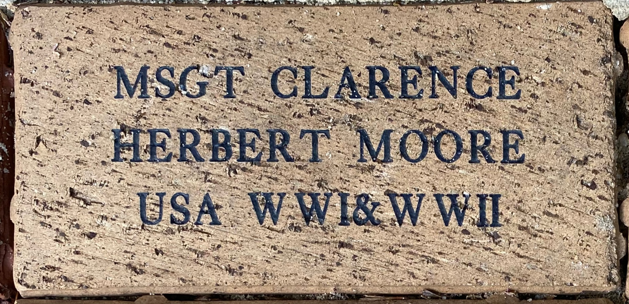 MSGT CLARENCE HERBERT MOORE USA WWI & WWII