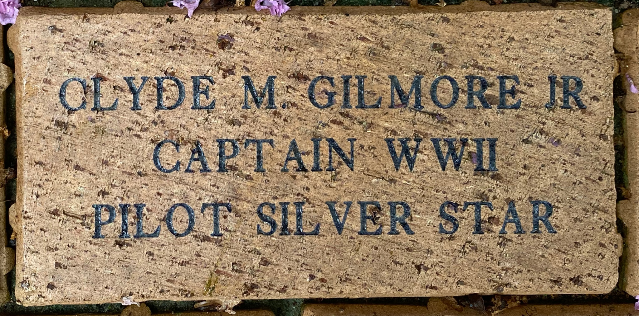 CLYDE M. GILMORE JR. CAPTAIN WWII PILOT SILVER STAR