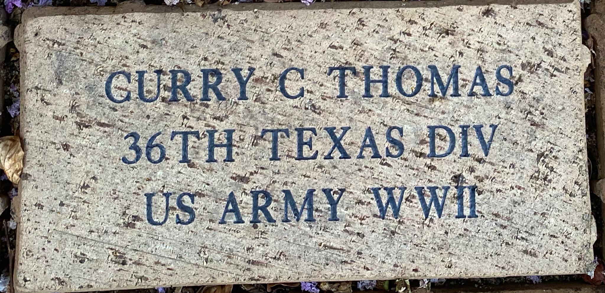 CURRY C THOMAS 36TH TEXAS DIV US ARMY WWII