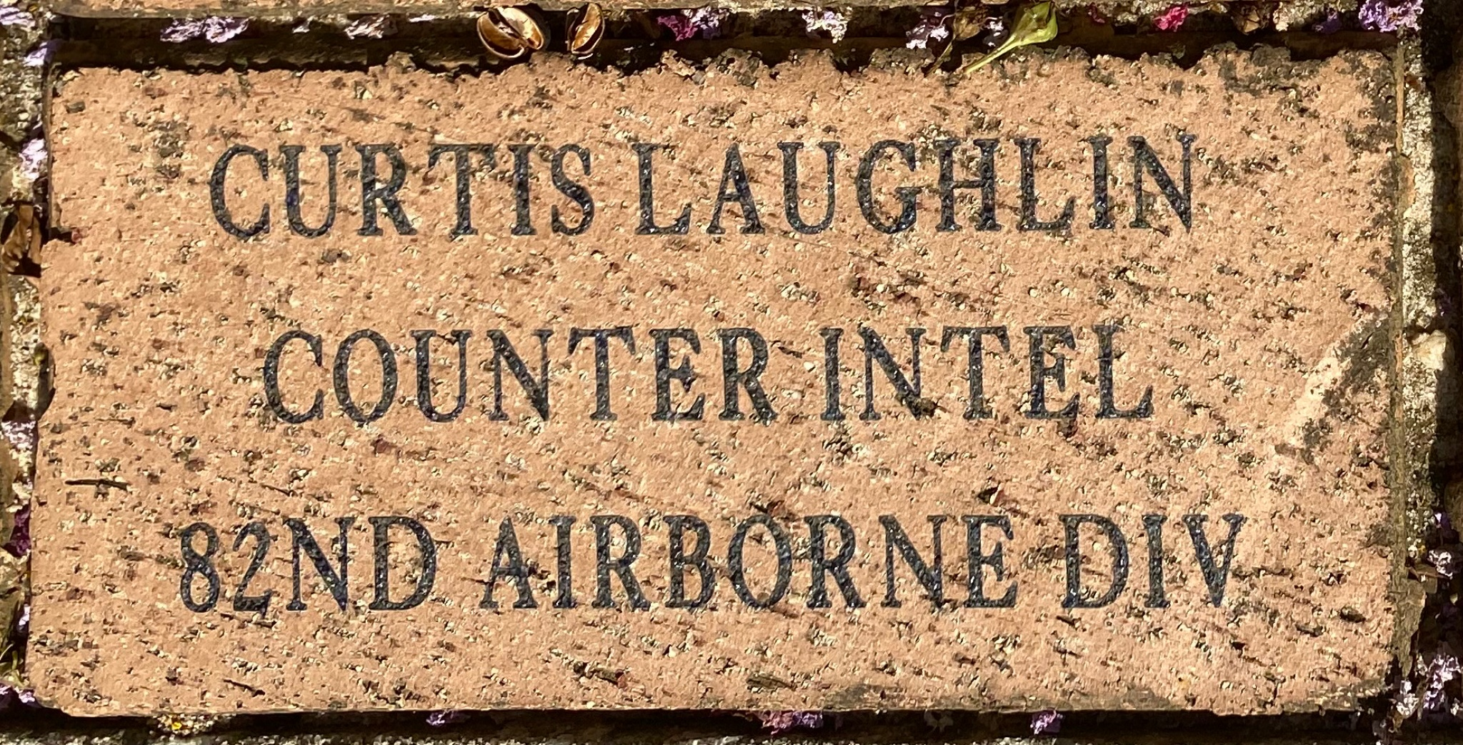 CURTIS LAUGHLIN COUNTER INTEL 82ND AIRBORNE DIV