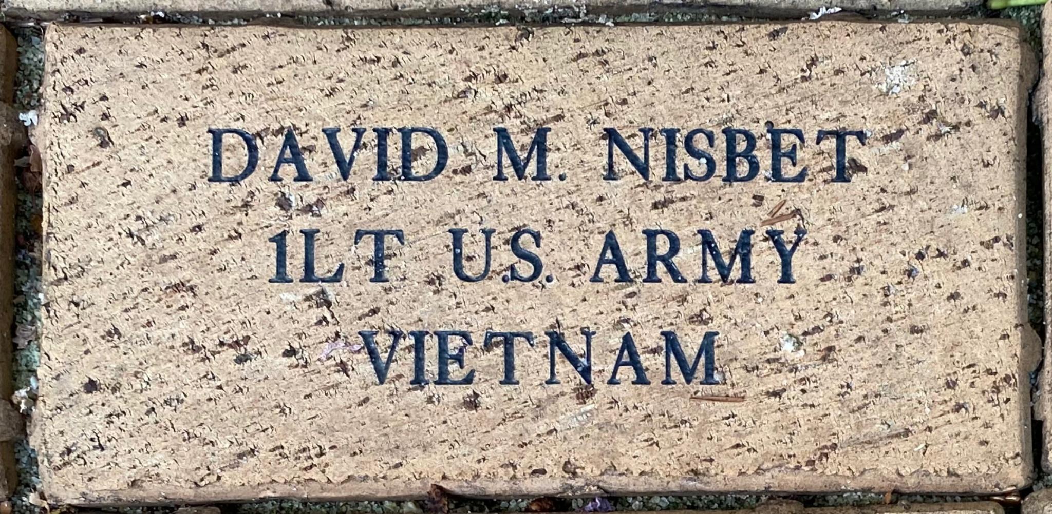 DAVID M. NISBET 1LT U.S. ARMY VIETNAM