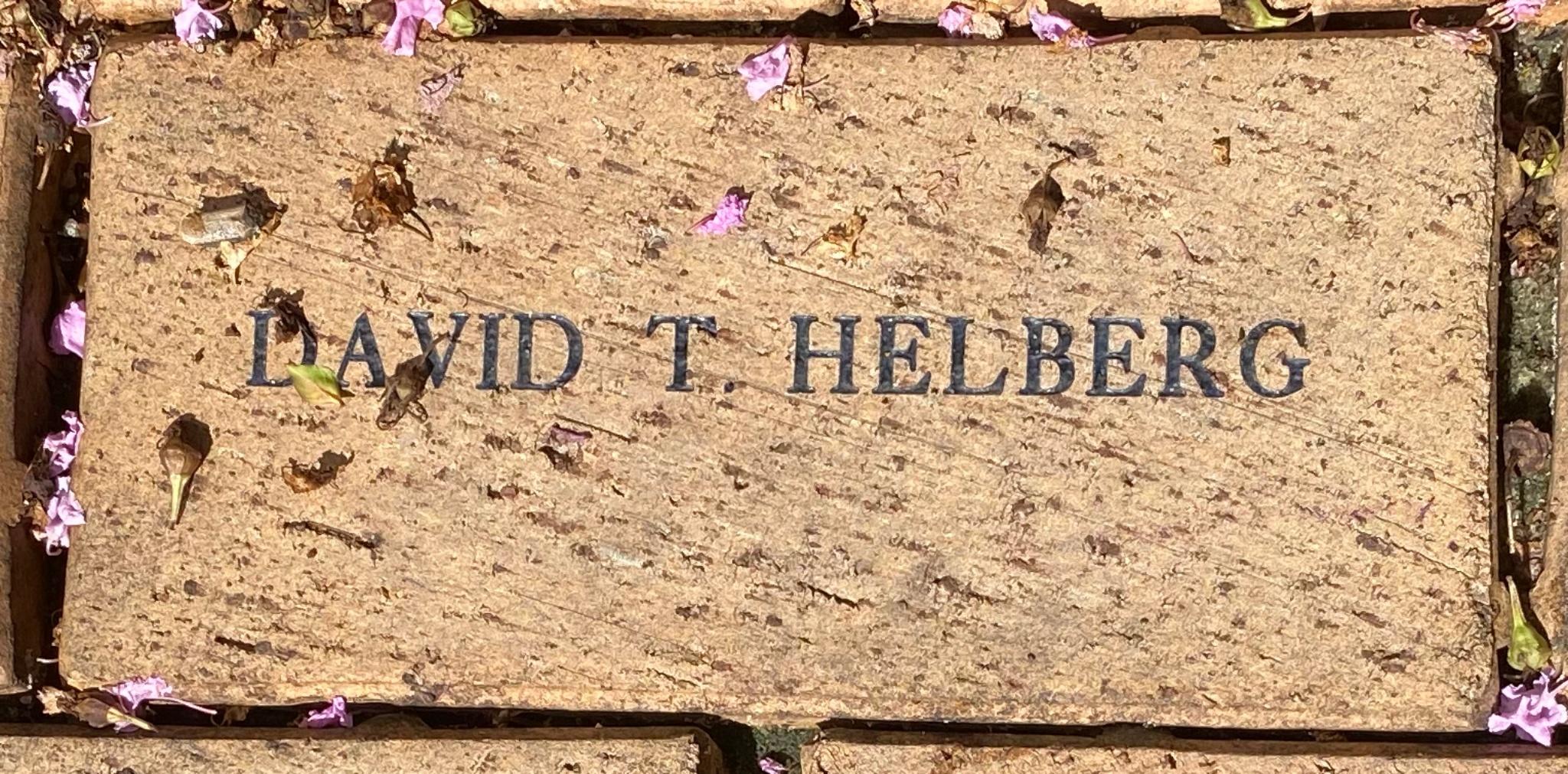 DAVID T. HELBERG