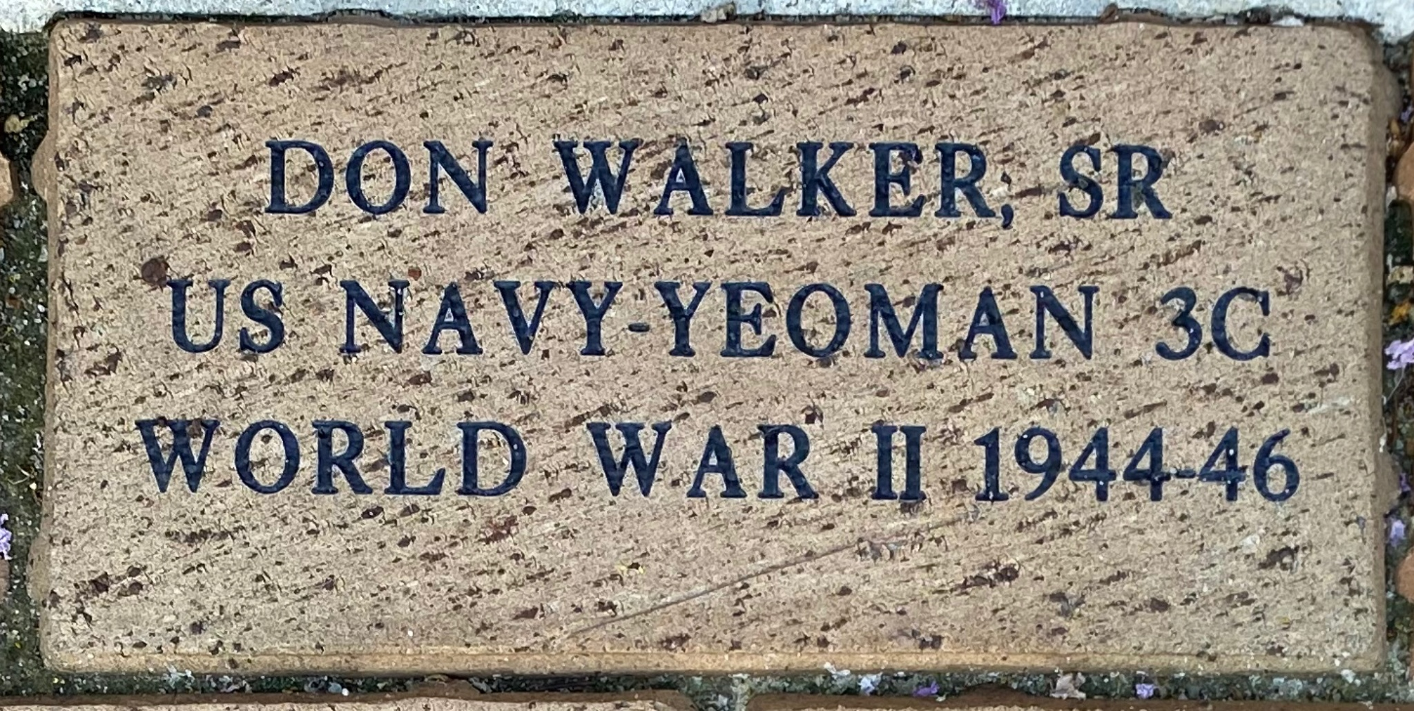 DON WALKER, SR US NAVY-YEOMAN 3C WORLD WAR 11 1944-46