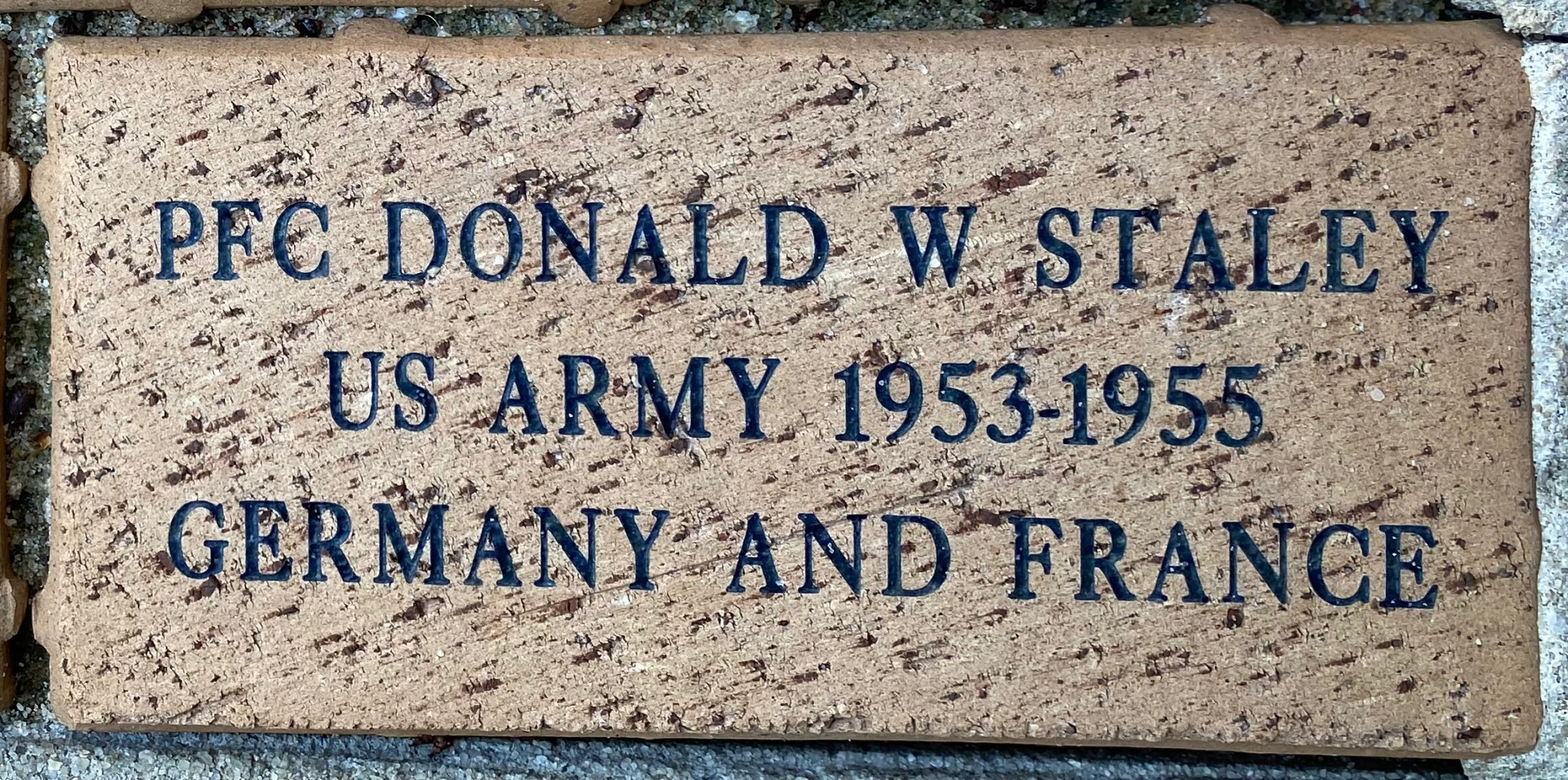 PFC DONALD W STALEY US ARMY 1953-1955 GERMANY AND FRANCE