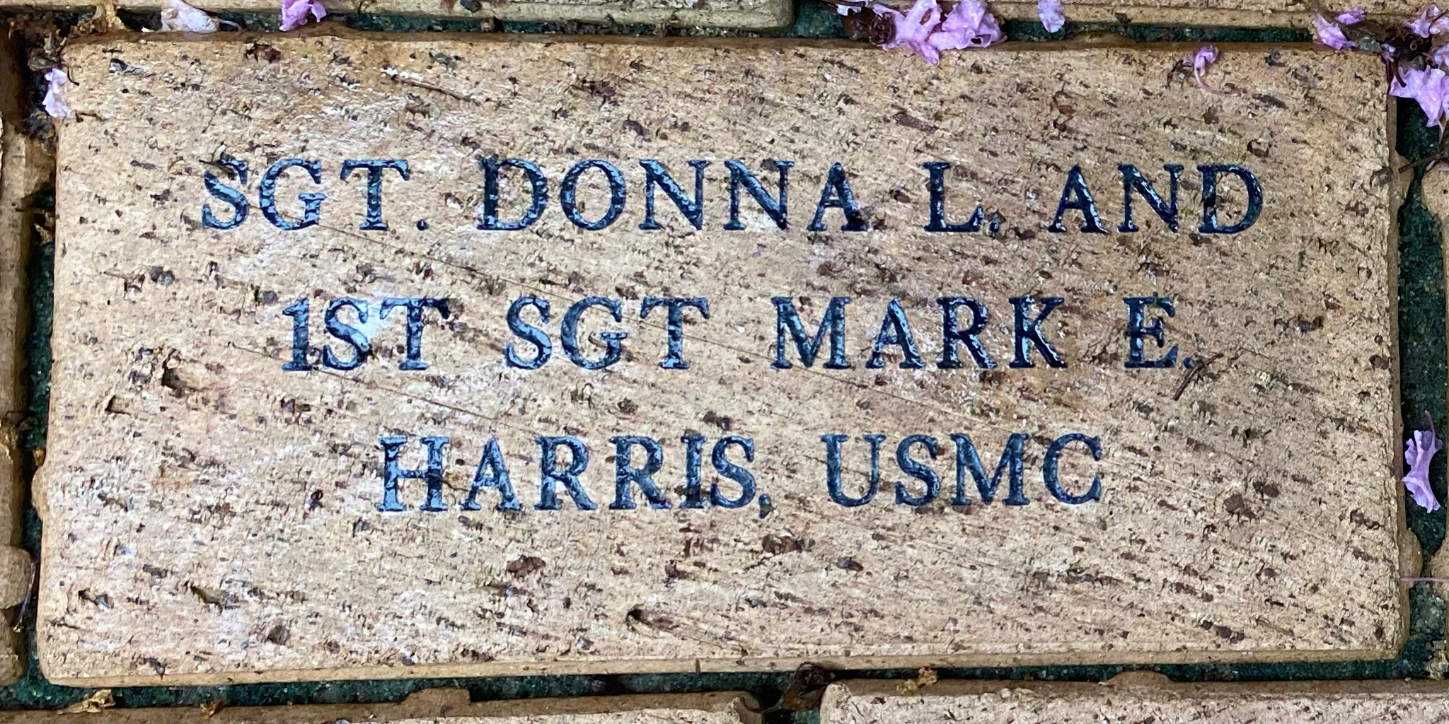 SGT DONNA L. AND 1ST SGT MARK E HARRIS, USMC