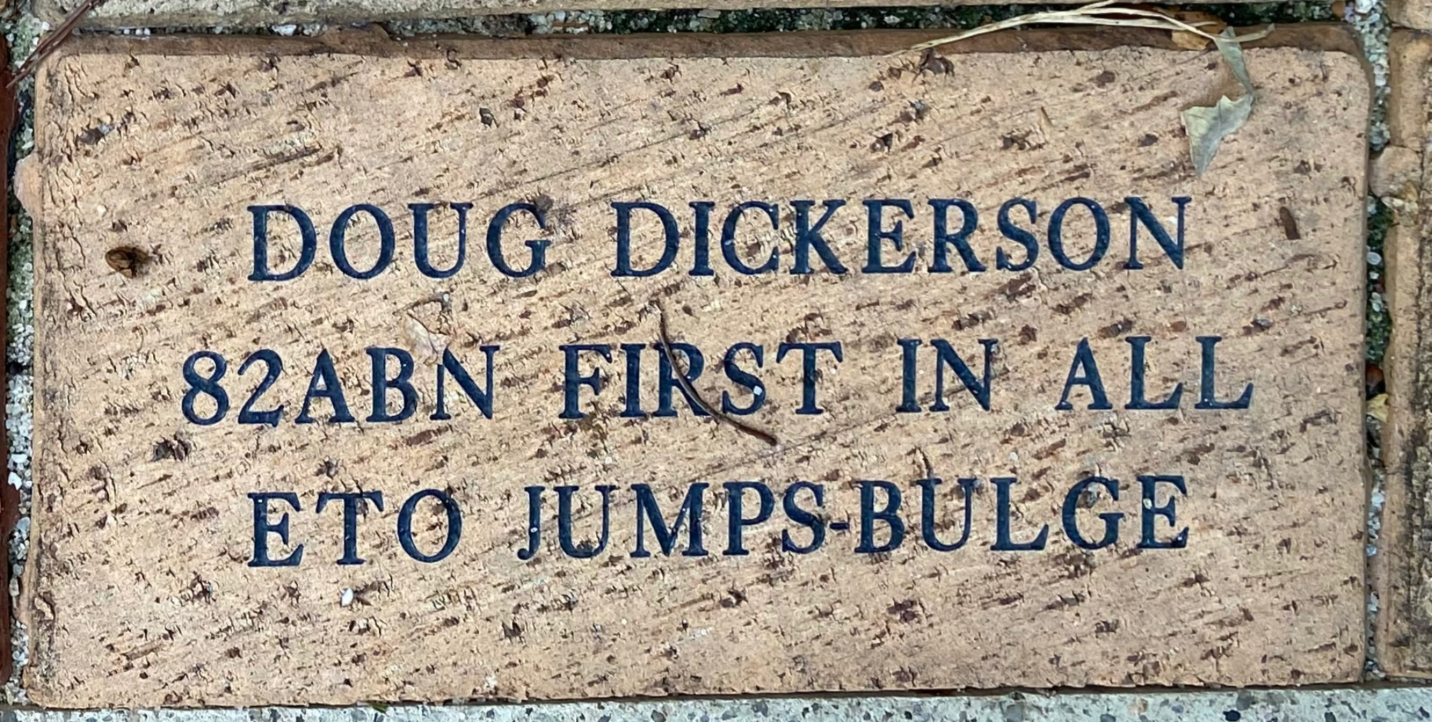 DOUG DICKERSON 82ABN FIRST IN ALL ETO JUMPS –BULGE
