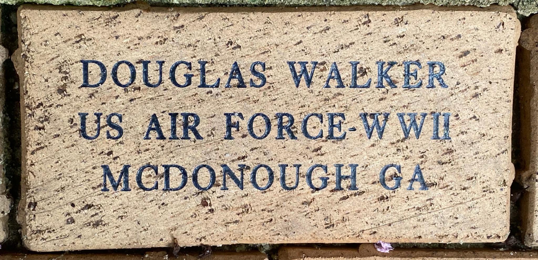 DOUGLAS WALKER US AIR FORCE – WWII MCDONOUGH GA