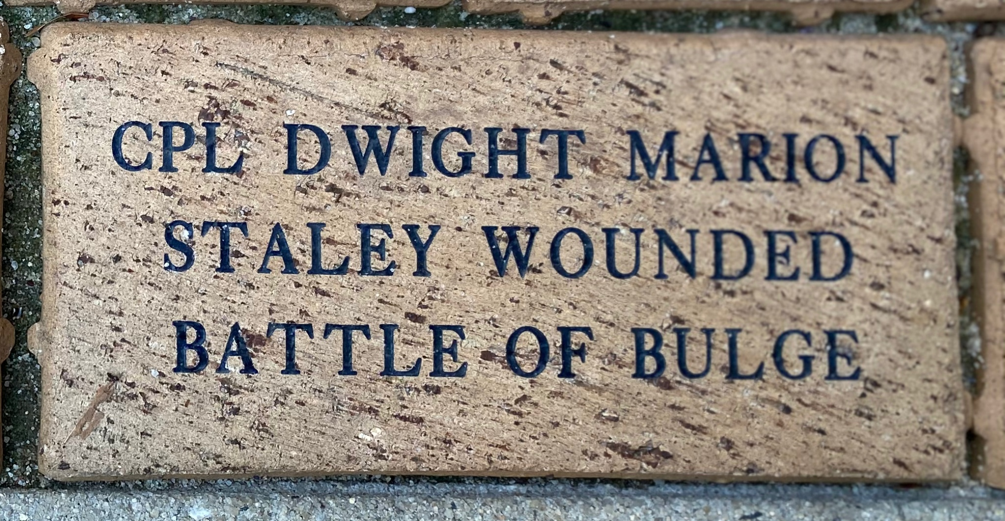 CPL DWIGHT MARION  STALEY WOUNDED BATTLE OF BULGE
