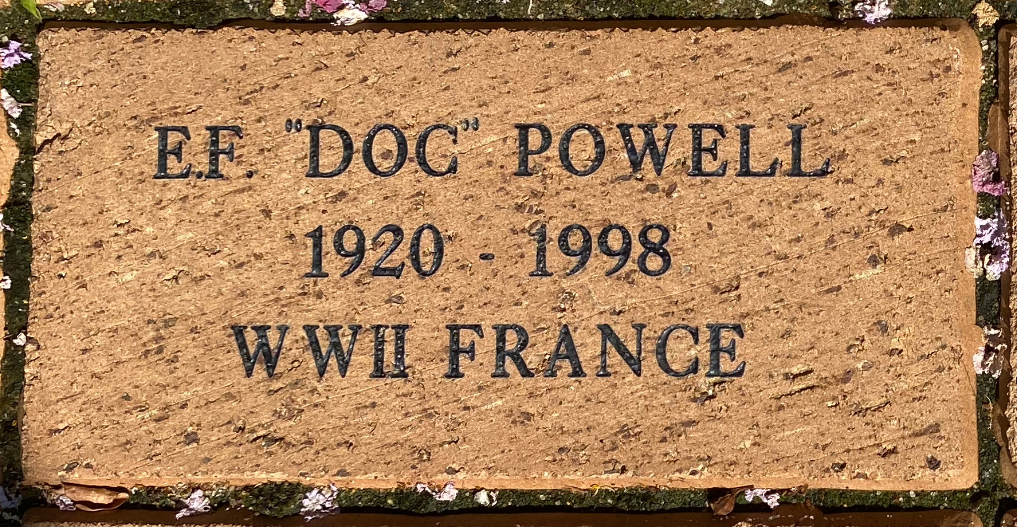 "E.F. ""DOC"" POWELL 1920 – 1998 WWII FRANCE"