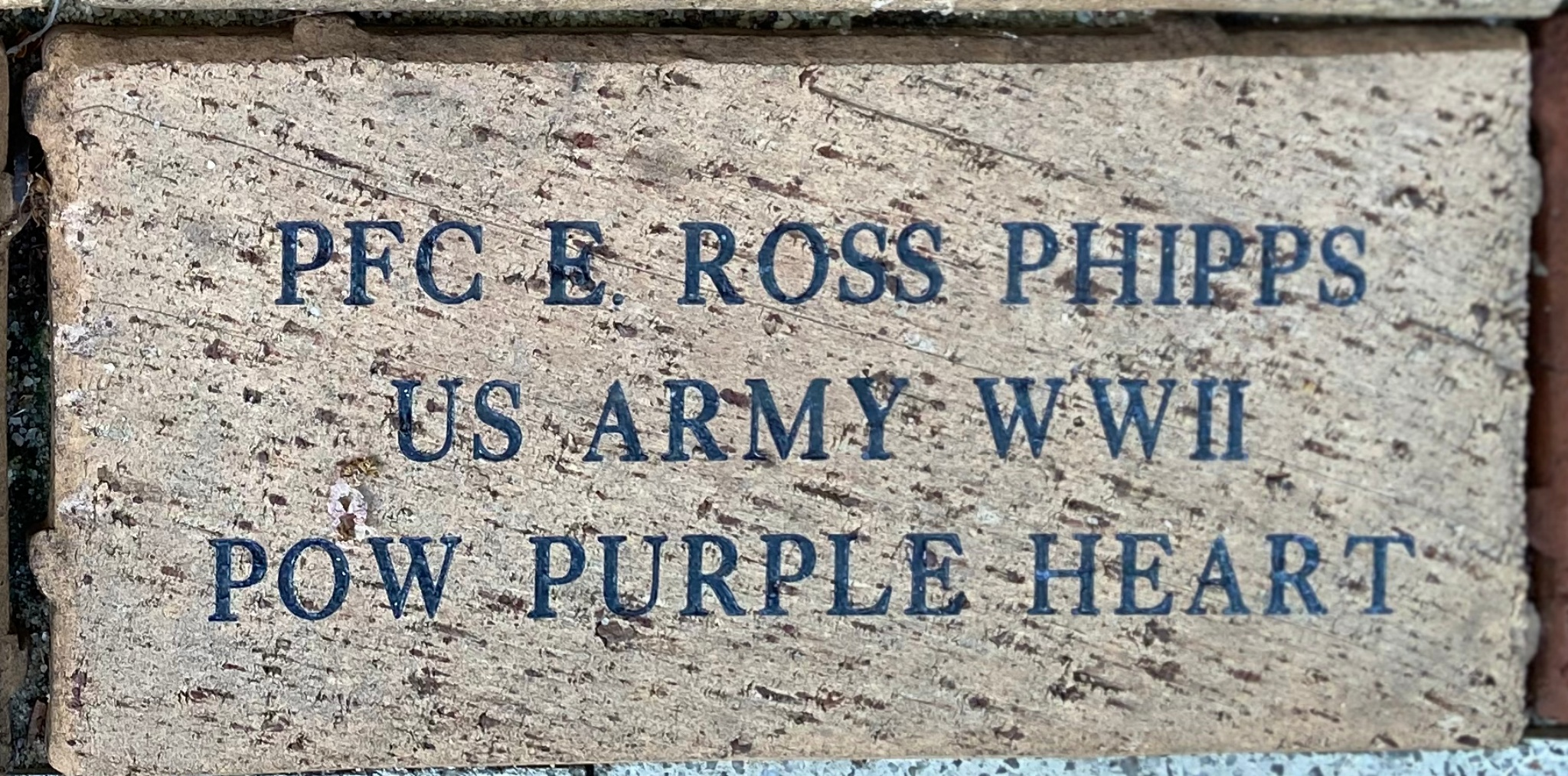 PFC E. ROSS PHIPPS US ARMY WWII POW PURPLE HEART