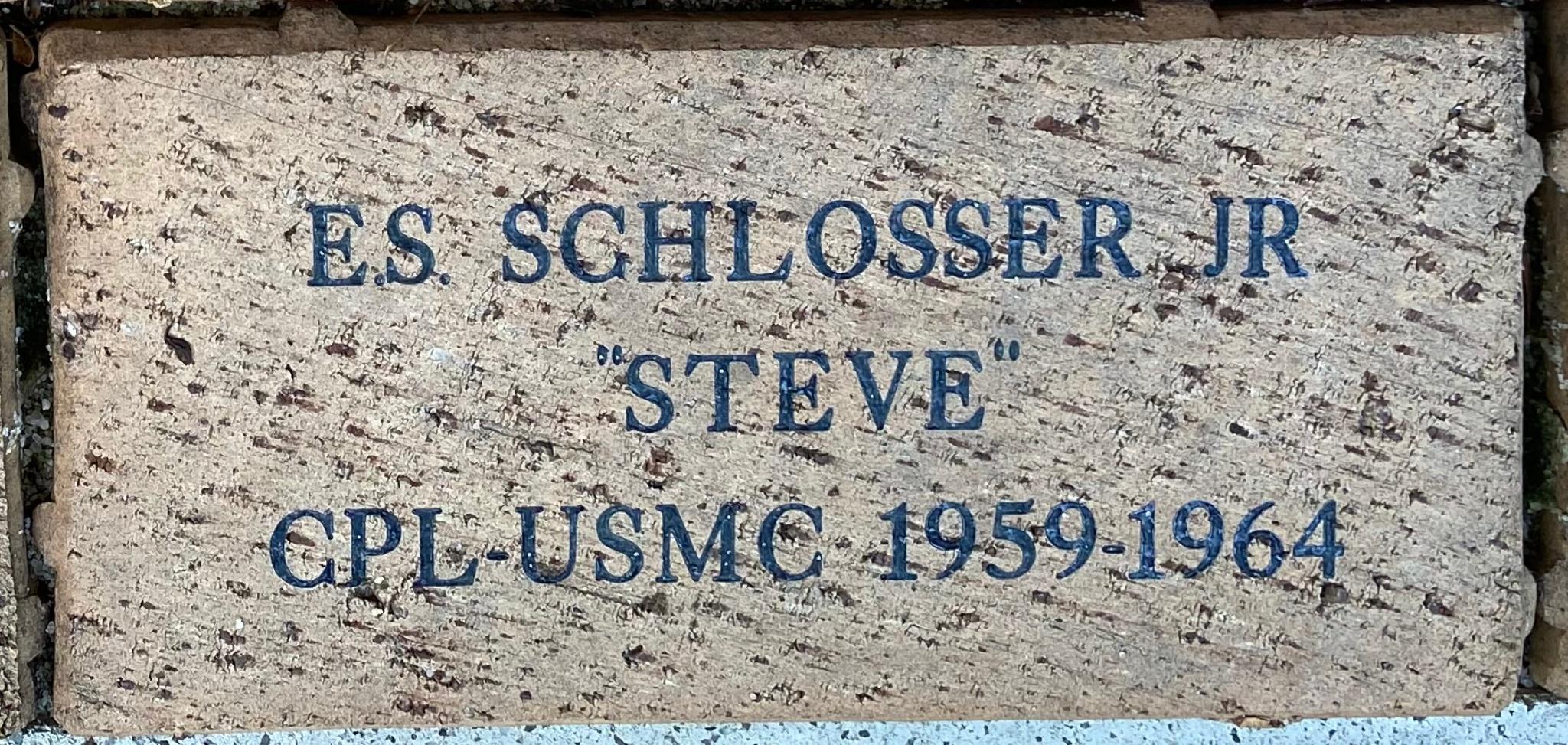 """E.S. SCHLOSSER JR """"STEVE"""" CPL-USMC 1959-1964"""