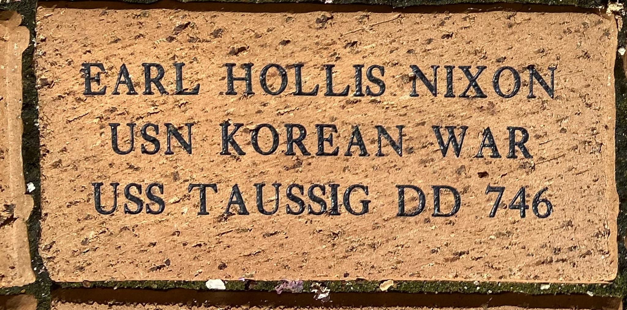 EARL HOLLIS NIXON USN Korean War USS TAUSSIG DD746