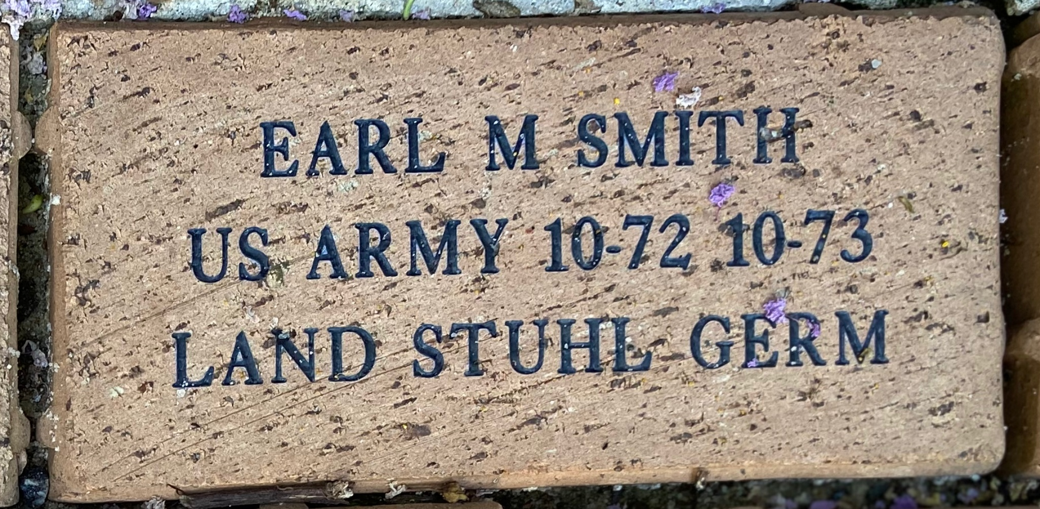 EARL M SMITH US ARMY 10-72 10-73 LAND STUHL GERM