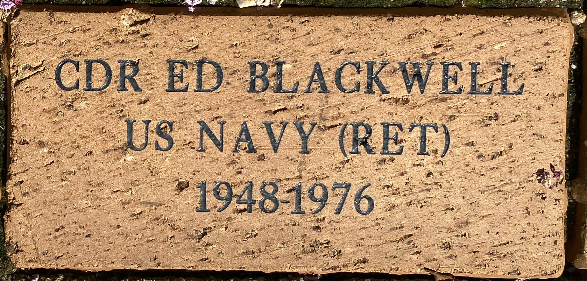 CDR ED BLACKWELL US NAVY (RET) 1948-1976