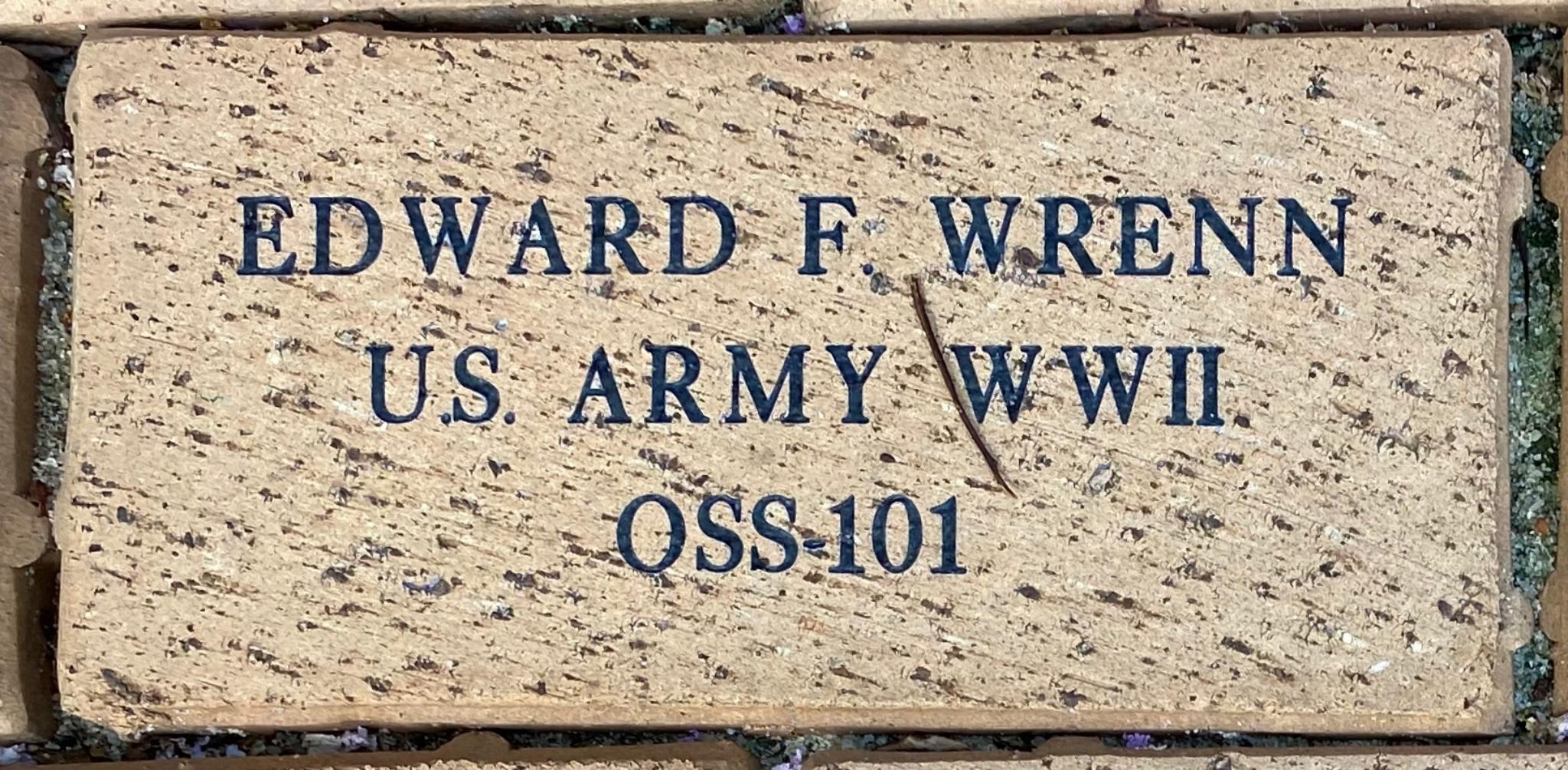 EDWARD F. WRENN U.S. ARMY WWII OSS-101