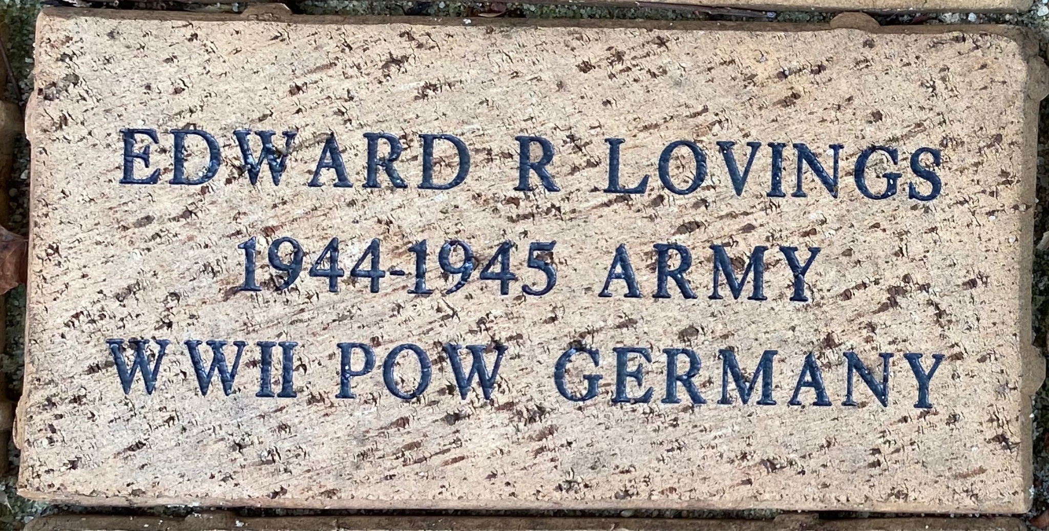 EDWARD R LOVINGS 1944-1945 ARMY WWII POW GERMANY