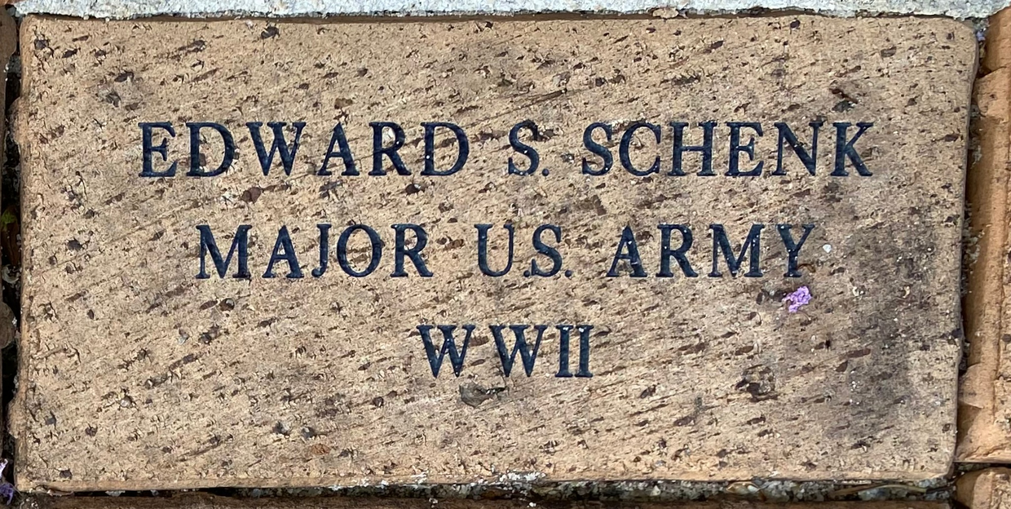 EDWARD S. SCHENK MAJOR U.S. ARMY WWII
