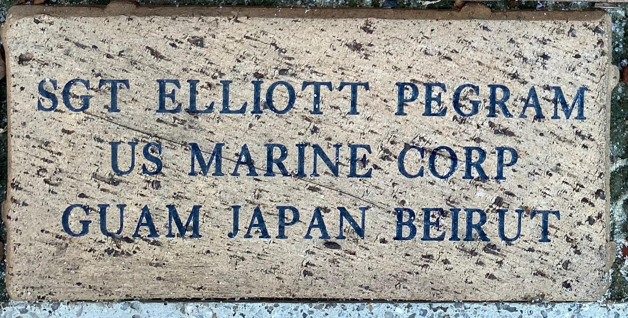 SGT ELLIOTT PEGRAM US MARINE CORP GUAM JAPAN BEIRUT