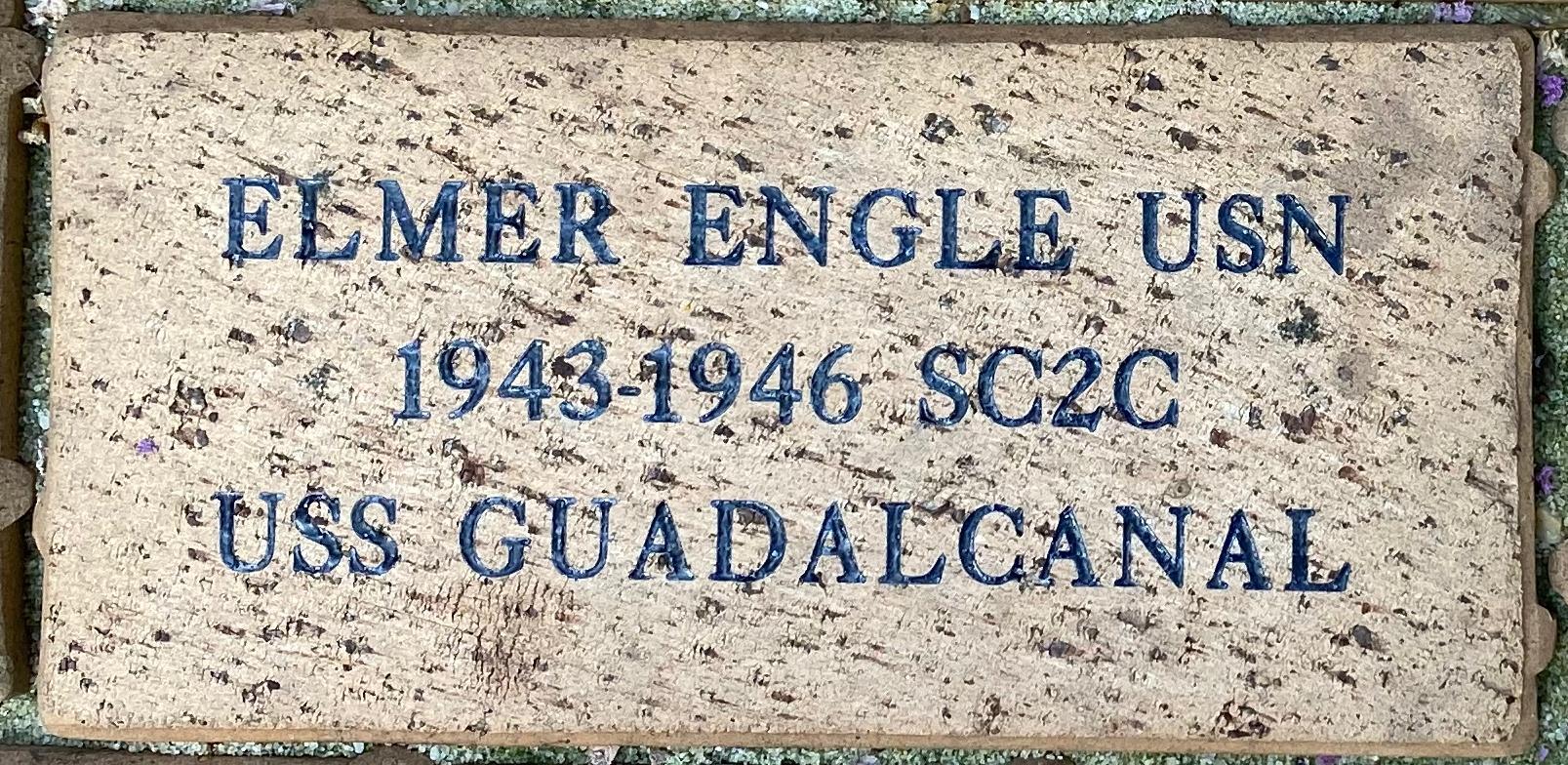 ELMER ENGLE USN 1943-1946 SC2C USS GUADALCANAL