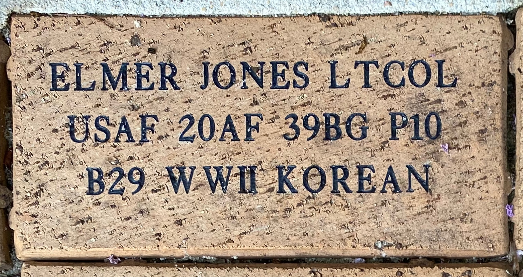 ELMER JONES LTCOL USAF 20A F 39BG P10 B29 WWII KOREAN