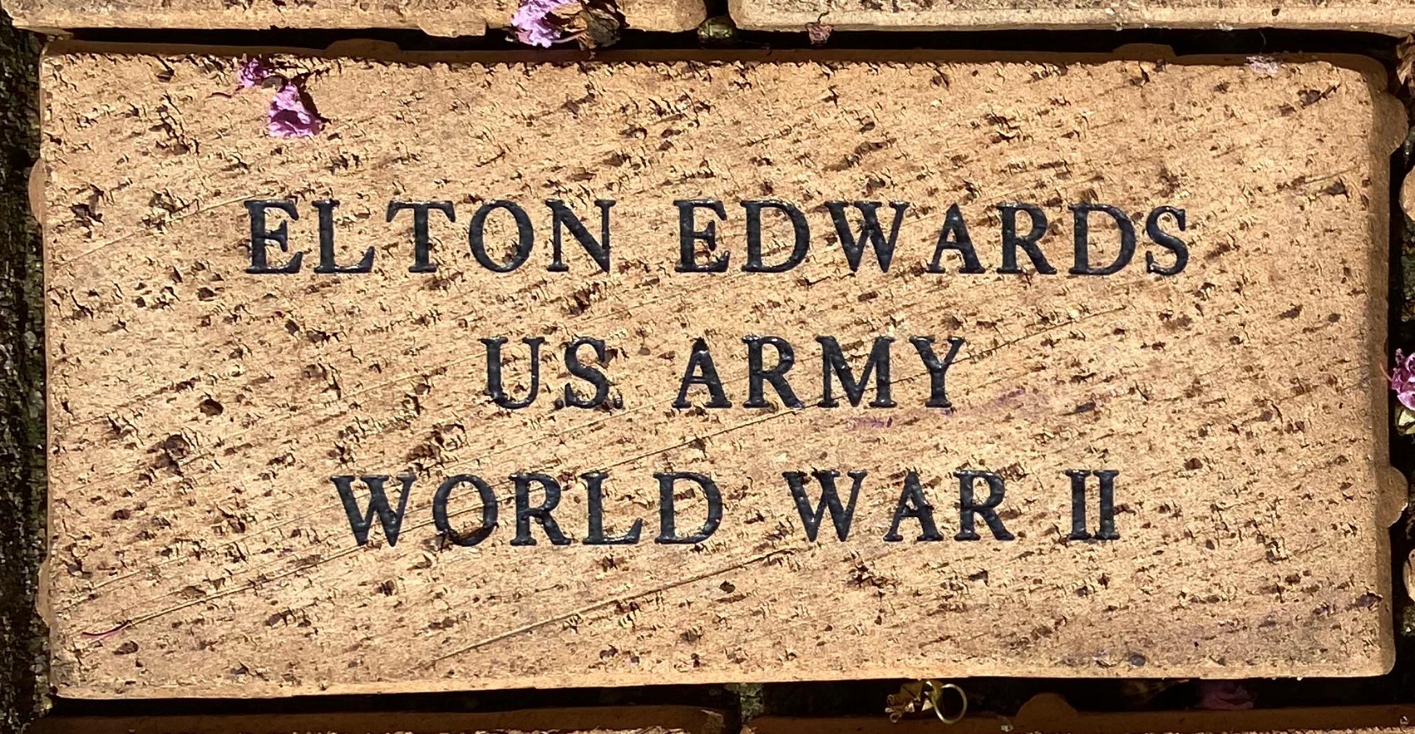 ELTON EDWARDS U.S. ARMY WORLD WAR II