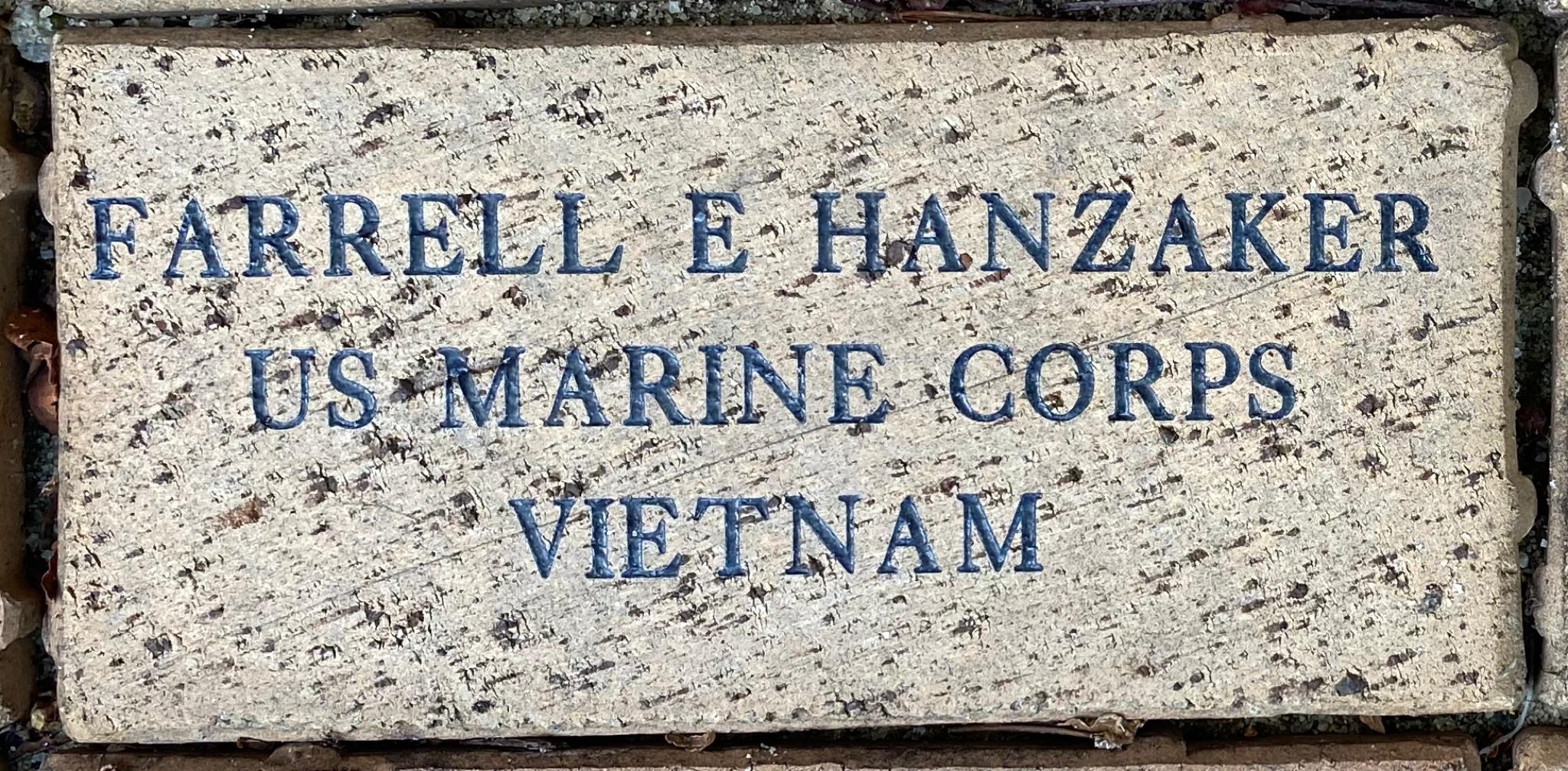 FARRELL E HANZAKER US MARINE CORPS VIETNAM
