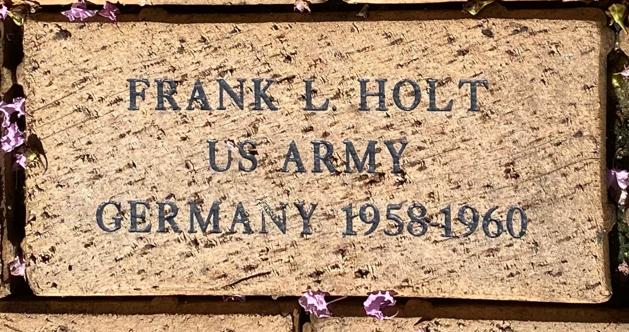 FRANK L HOLT US ARMY GERMANY 1958-1960