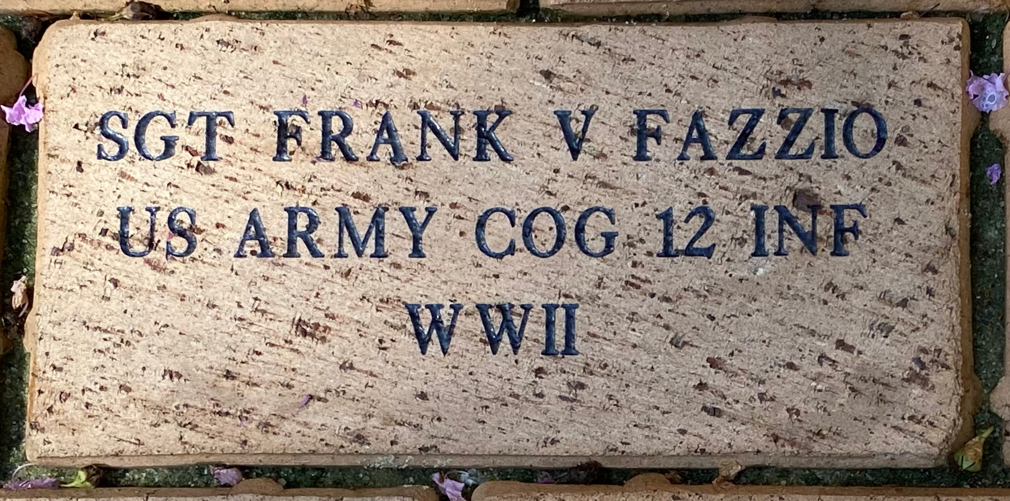SGT FRANK V FAZZIO US ARMY COG 12 INF WWII