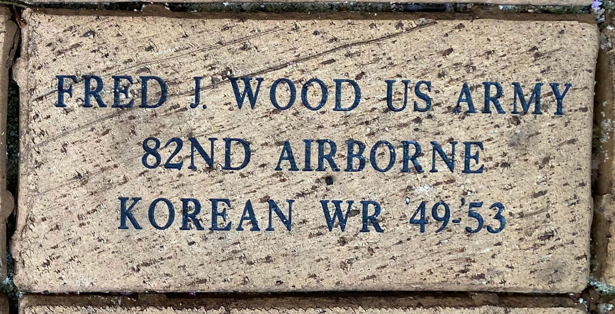 FRED J. WOOD US ARMY 82ND AIRBORNE KOREAN WR '49-'53