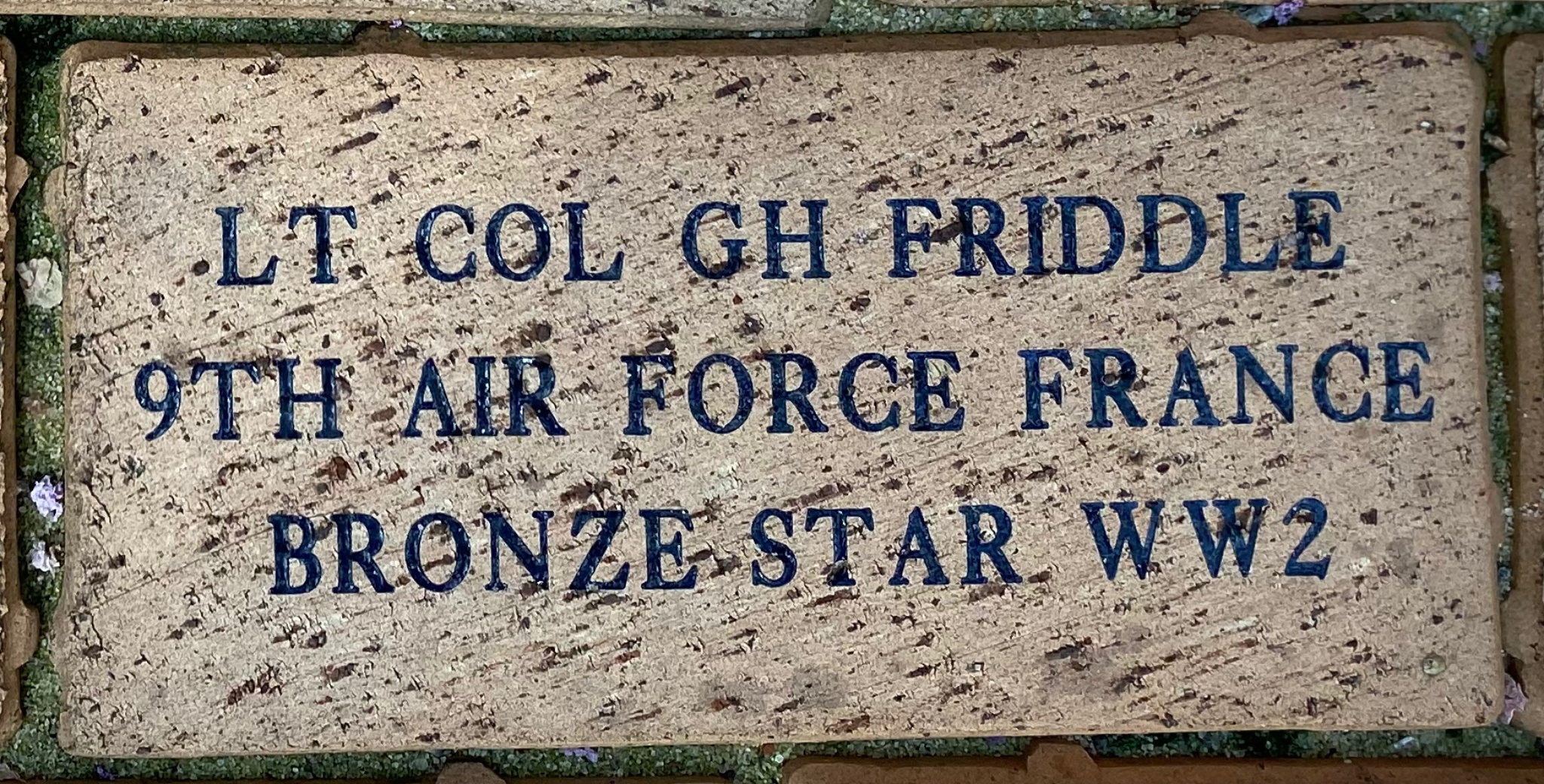 LT COL GH FRIDDLE 9TH AIR FORCE FRANCE BRONZE STAR WW2
