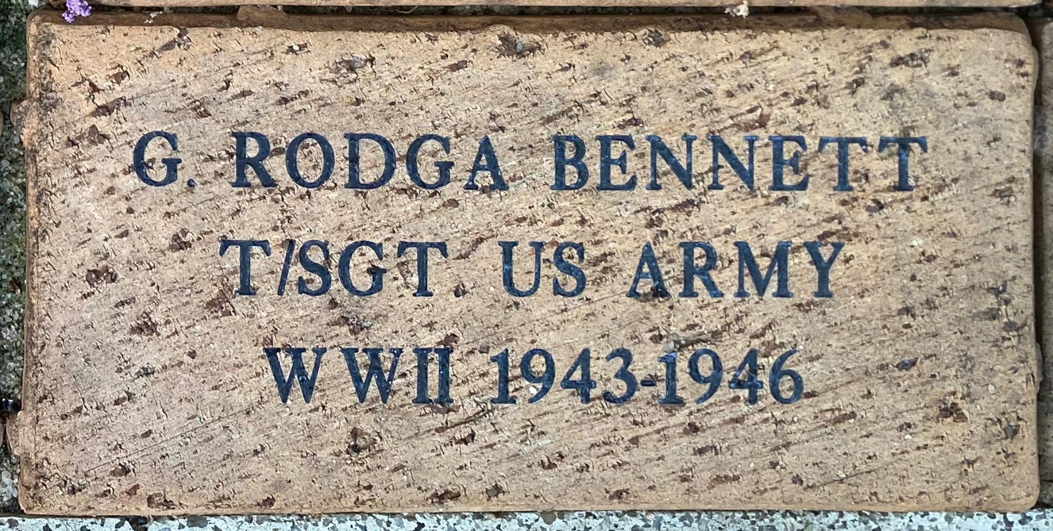 G. RODGA BENNETT T/SGT US ARMY WWII 1943-1946