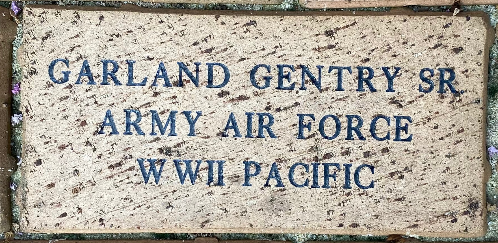 GARLAND GENTRY SR ARMY AIR FORCE WWII PACIFIC