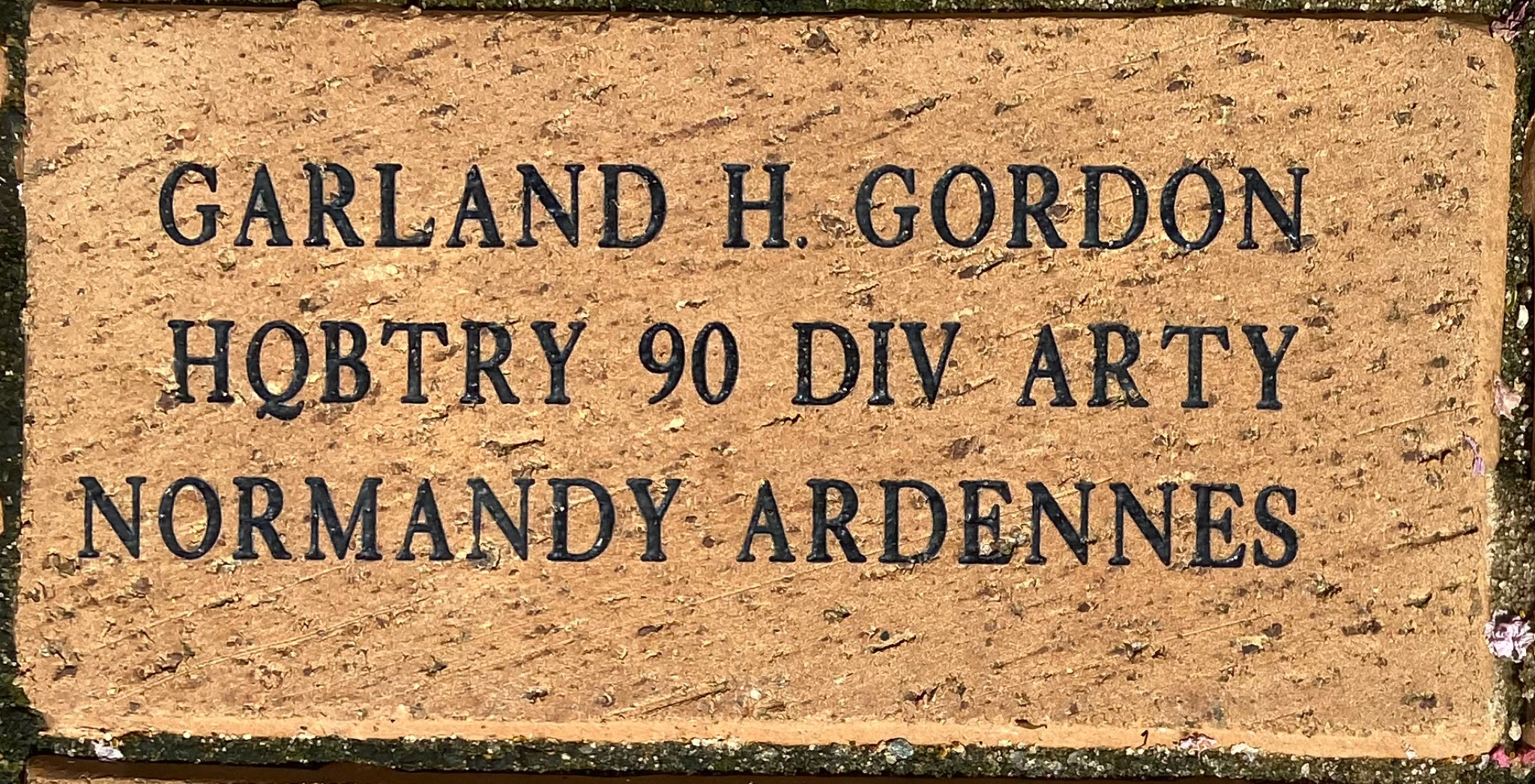 GARLAND H. GORDON HQBTRY 90 DIV ARTY NORMANDY ARDENNES