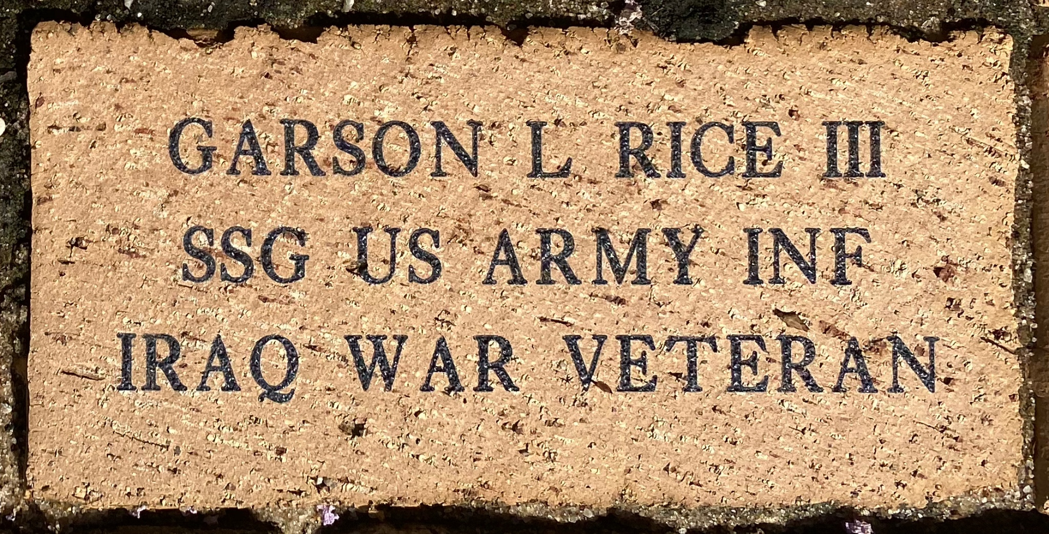 GARSON L RICE III SSG US ARMY INF IRAQ WAR VETERAN