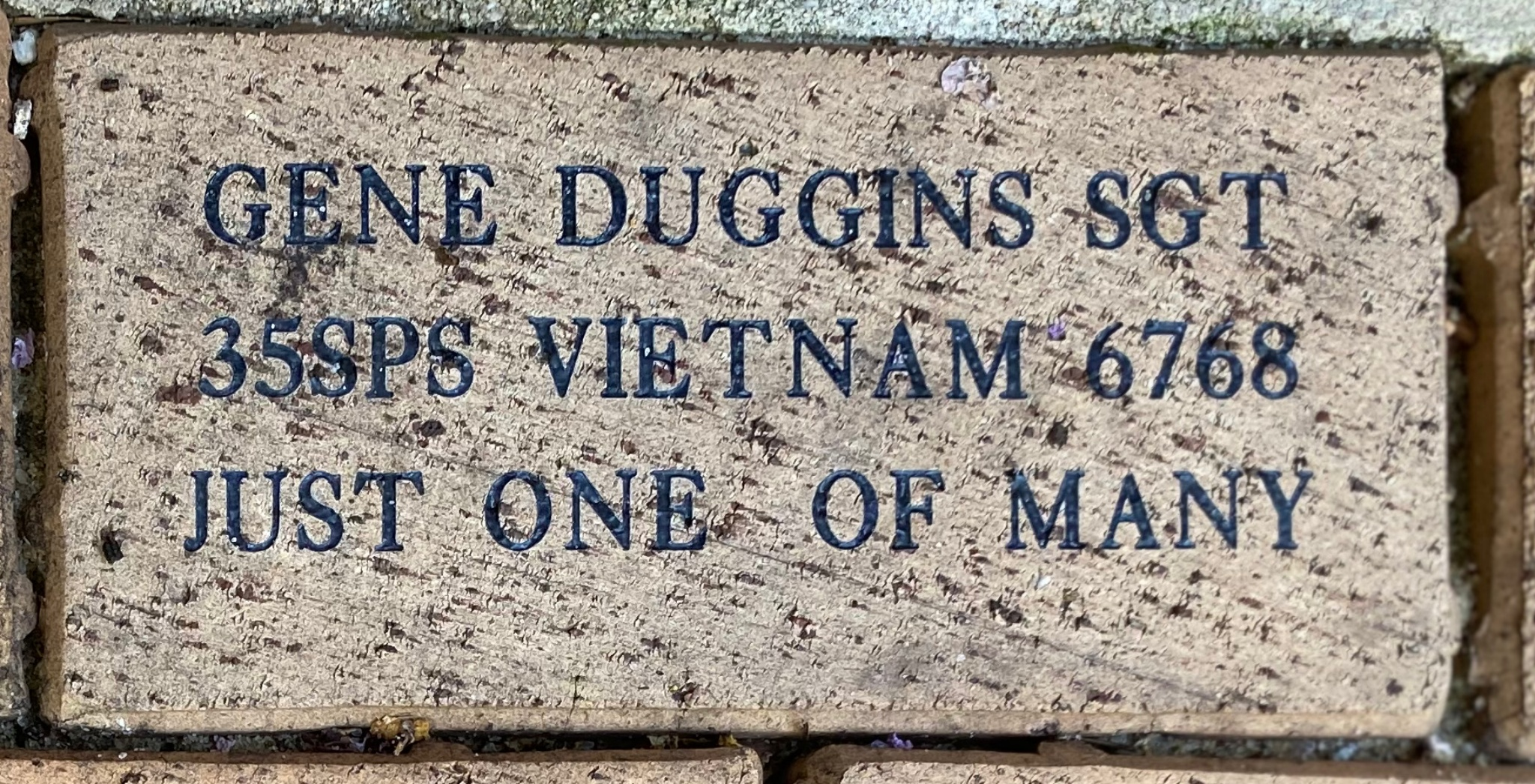 GENE DUGGINS SGT 35SPS VIETNAM 67 68 JUST ONE OF MANY