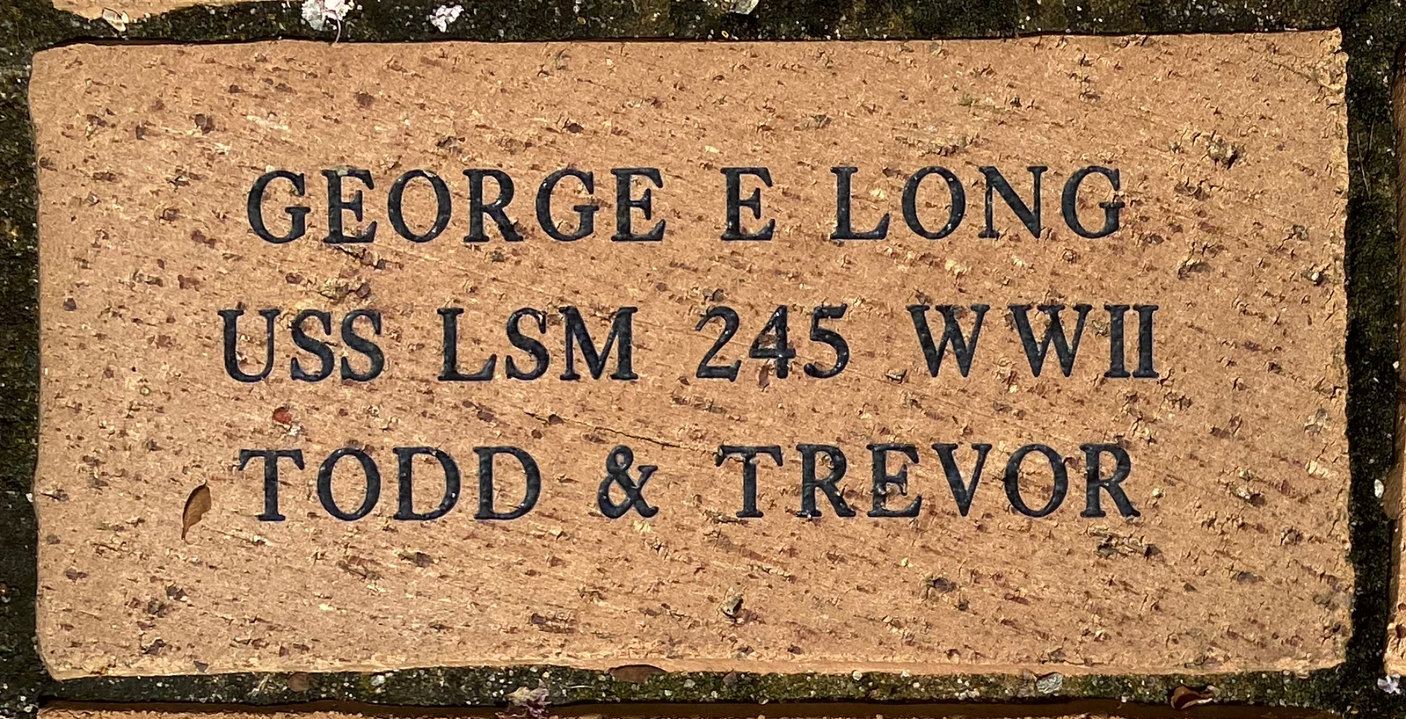 GEORGE E LONG USS LSM 245 WWII TODD & TREVOR