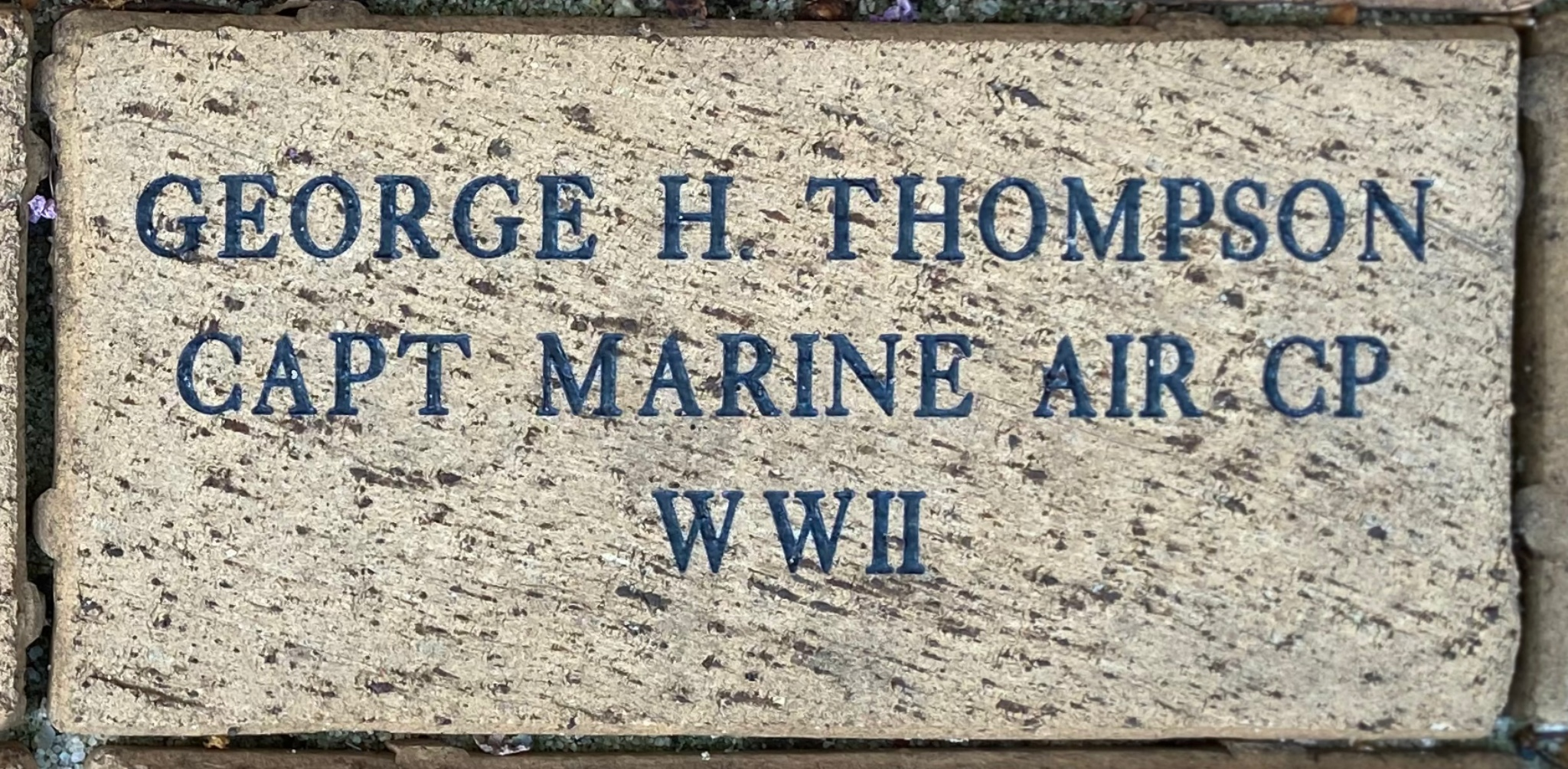 GEORGE H. THOMPSON CAPT MARINE AIR CP WWII