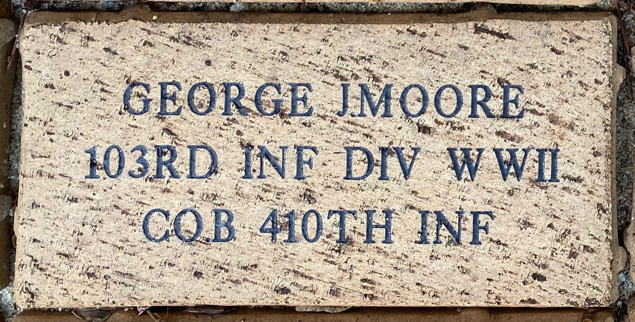 GEORGE J. MOORE 103RD INF DIV WWII CO.B 410TH INF