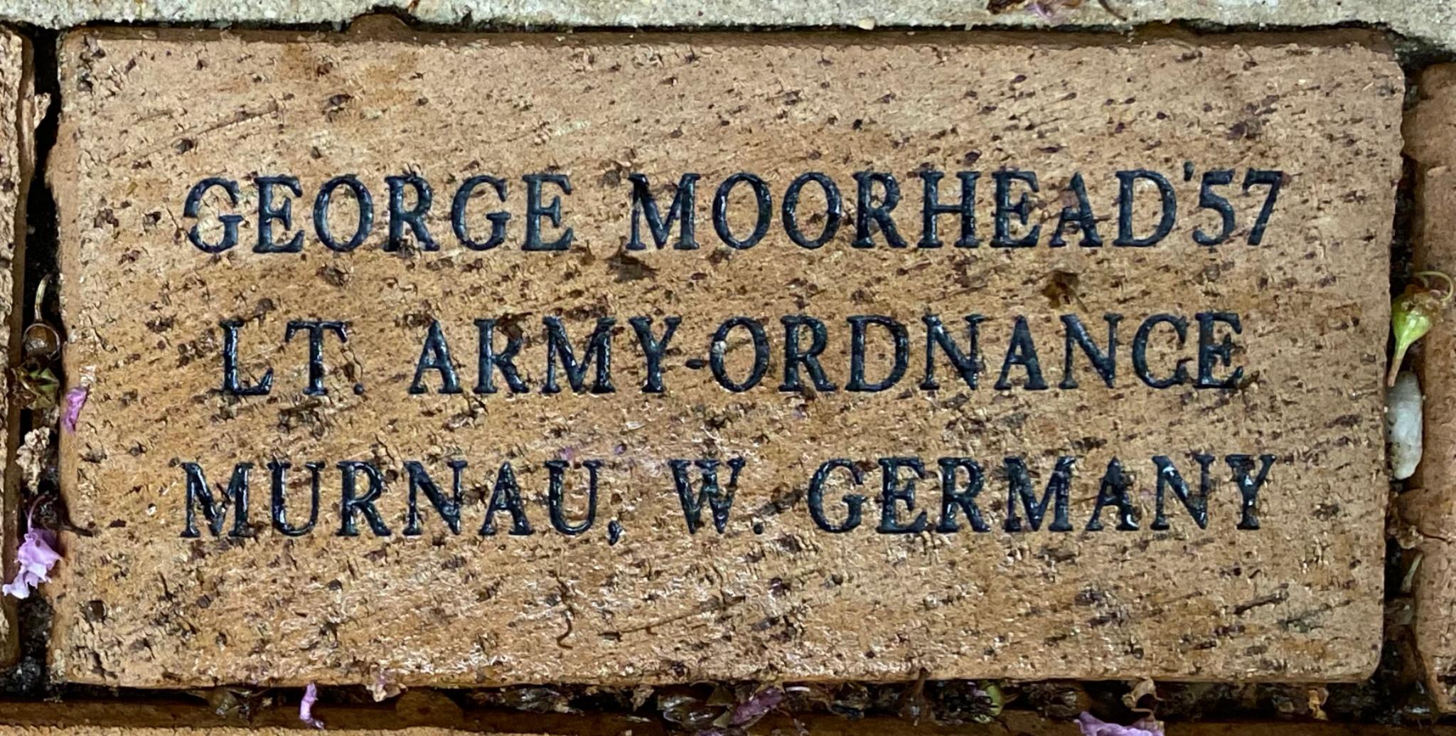 GEORGE MOORHEAD '57 LT. ARMY-ORDNANCE MURNAU, W. GERMANY