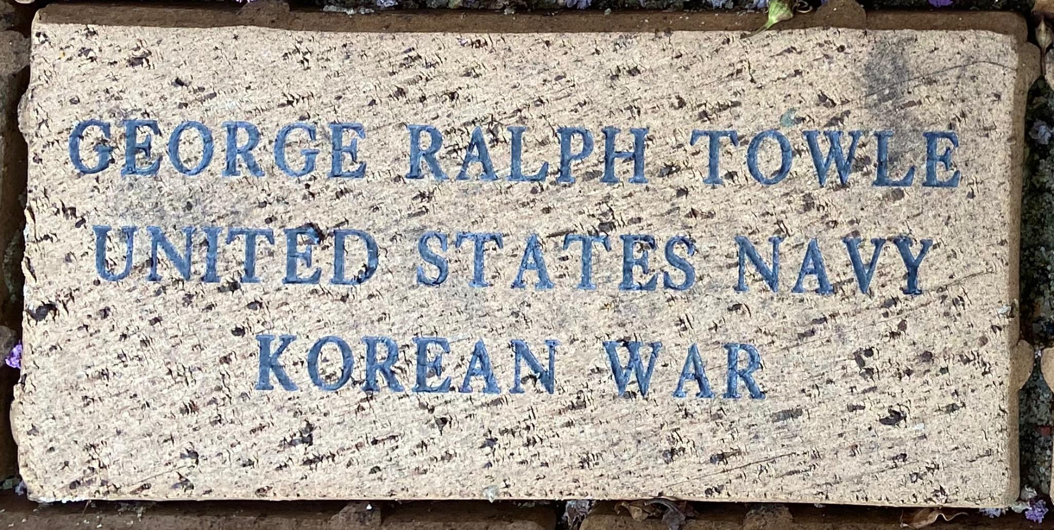 GEORGE RALPH TOWLE UNITED STATES NAVY KOREAN WAR