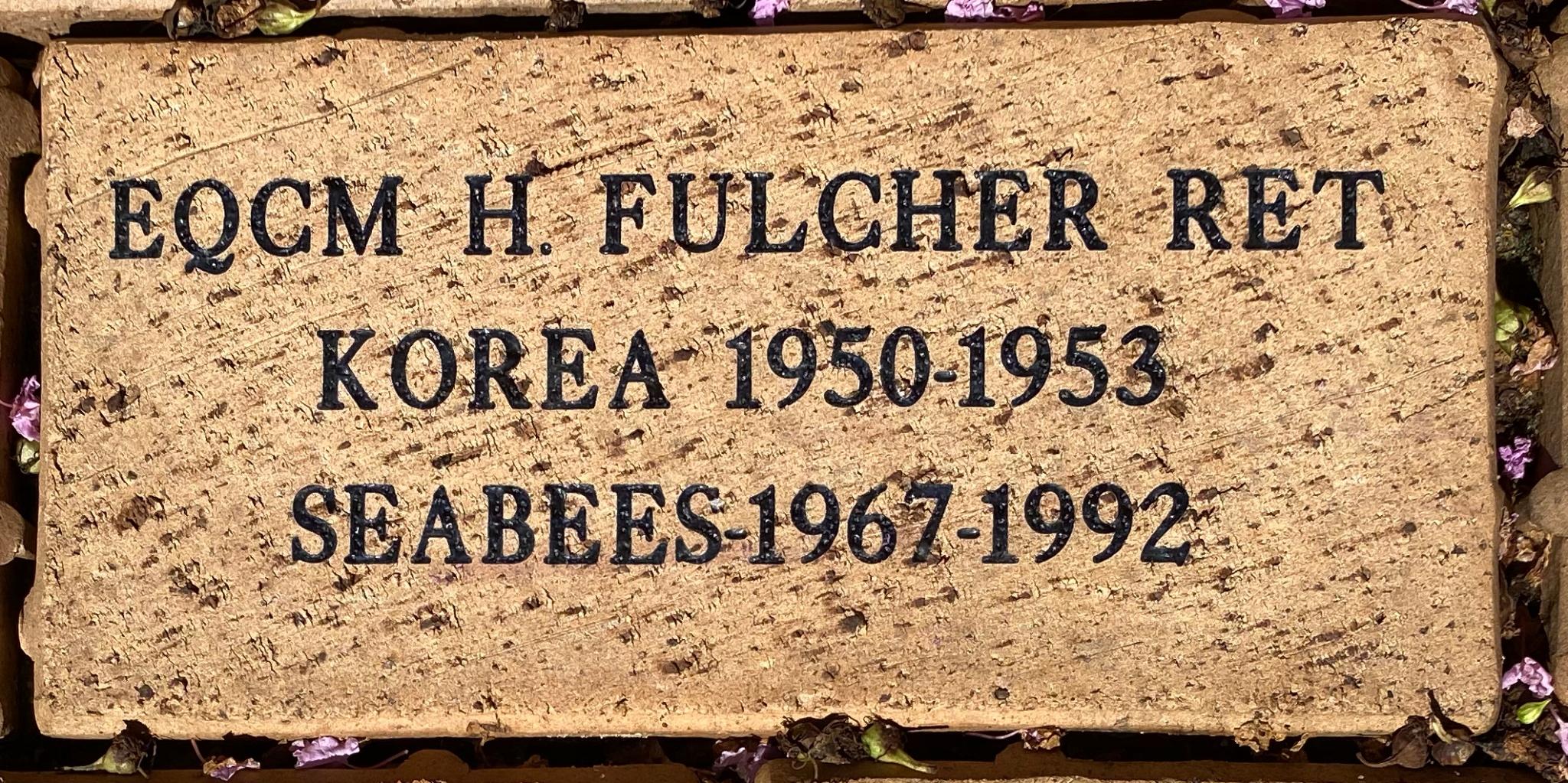 EQCM H. FULCHER RET KOREA 1950-1953 SEABEES- 1967-1992