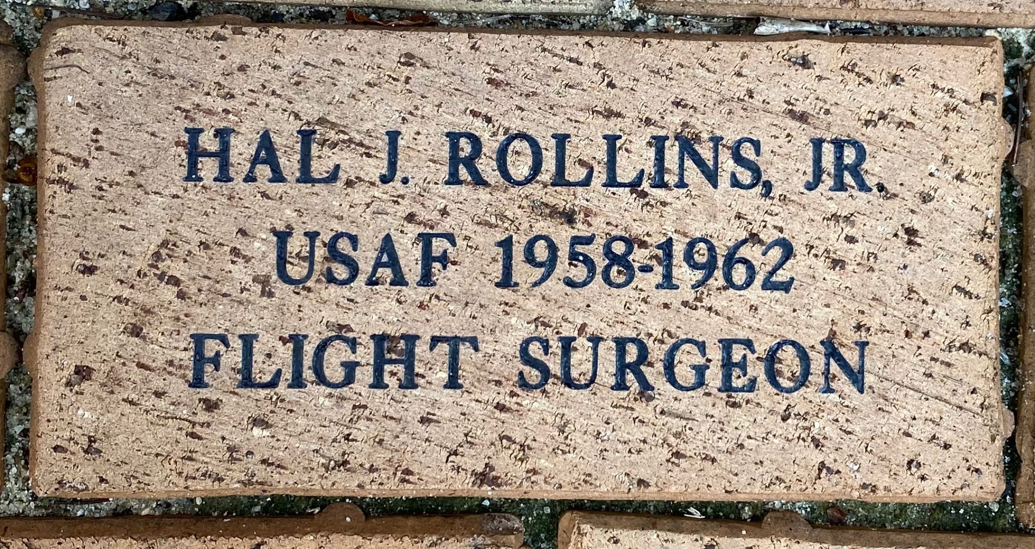 HAL J. ROLLINS, JR USAF 1958-1962 FLIGHT SURGEON