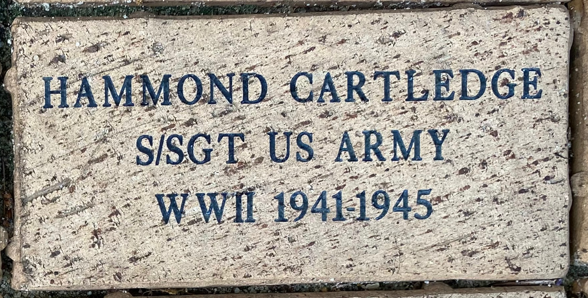 HAMMOND CARTLEDGE S/SGT US ARMY WWII 1941-1945