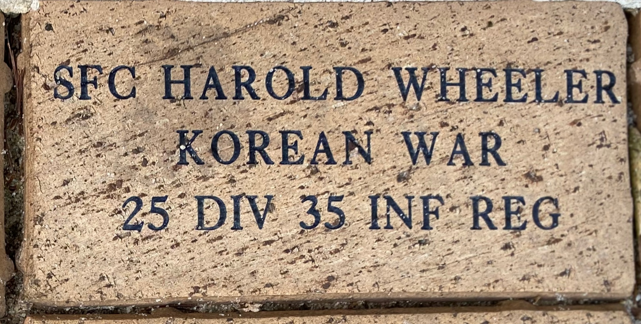 SFC HAROLD E WHEELER KOREAN WAR 25 DIV 35 INF REG