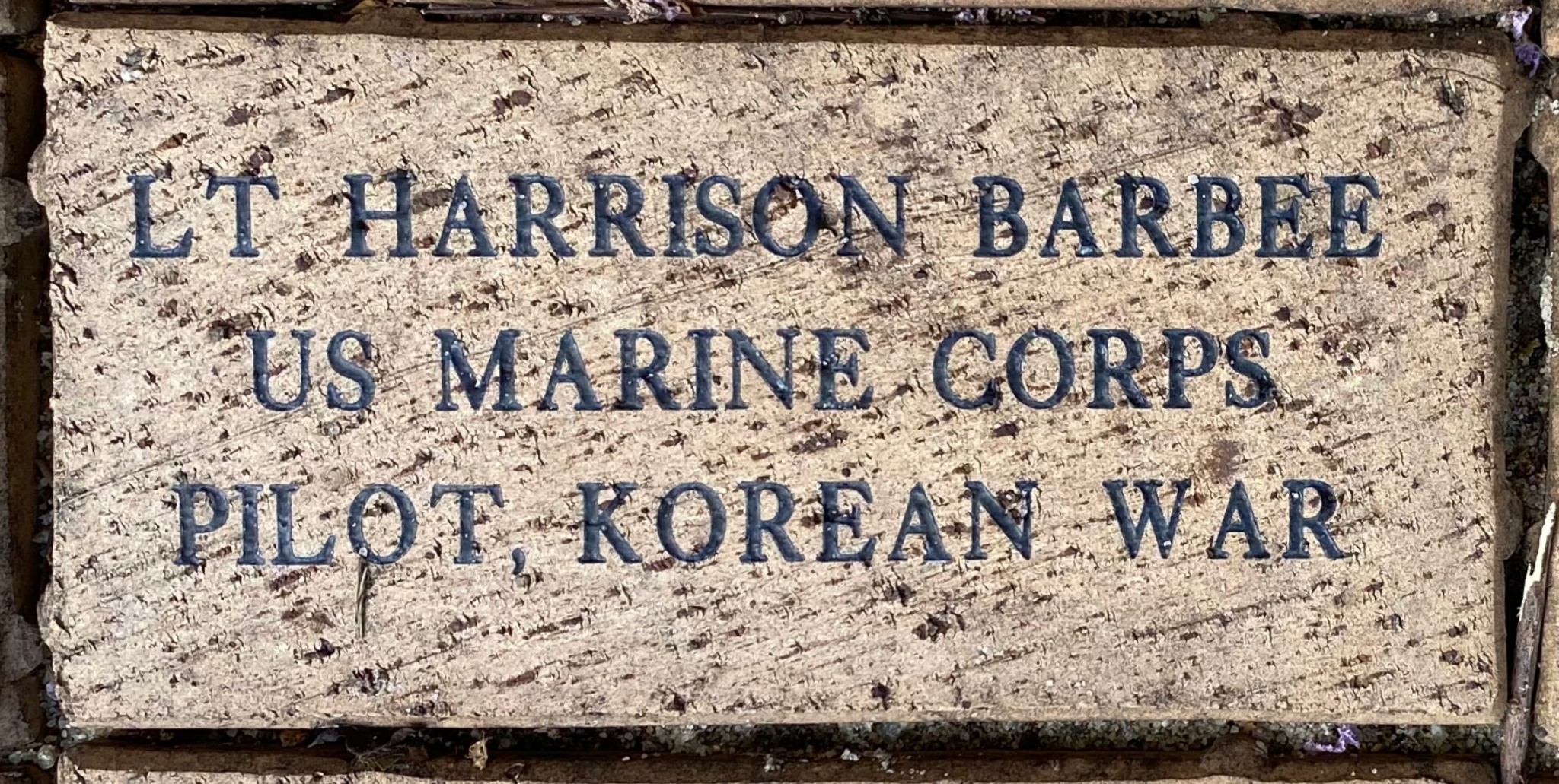 LT HARRISON BARBEE US MARINE CORPS PILOT, KOREAN WAR